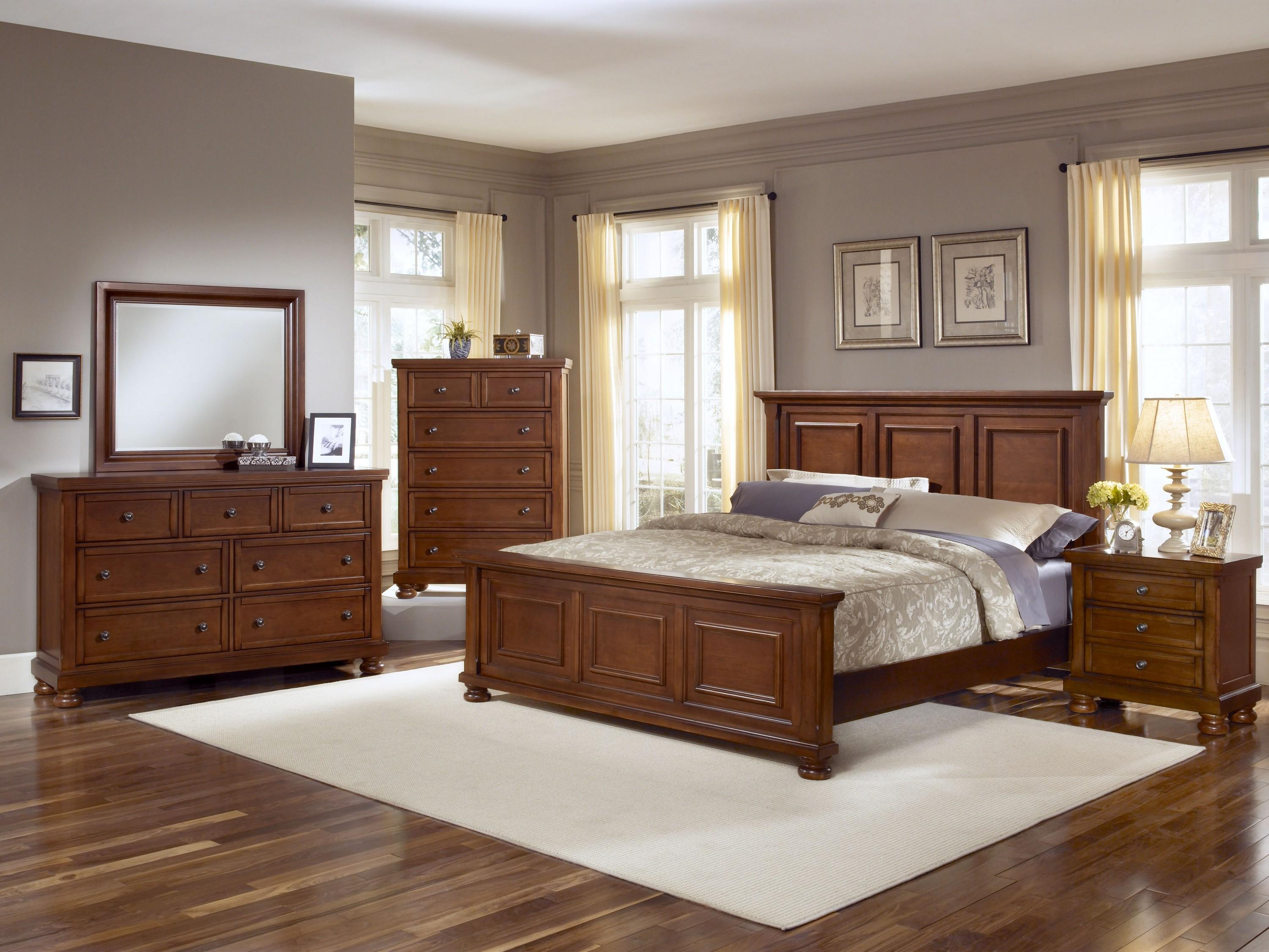 Vaughan bassett reflections full mansion bed great american home store panel beds for Discontinued bassett bedroom furniture