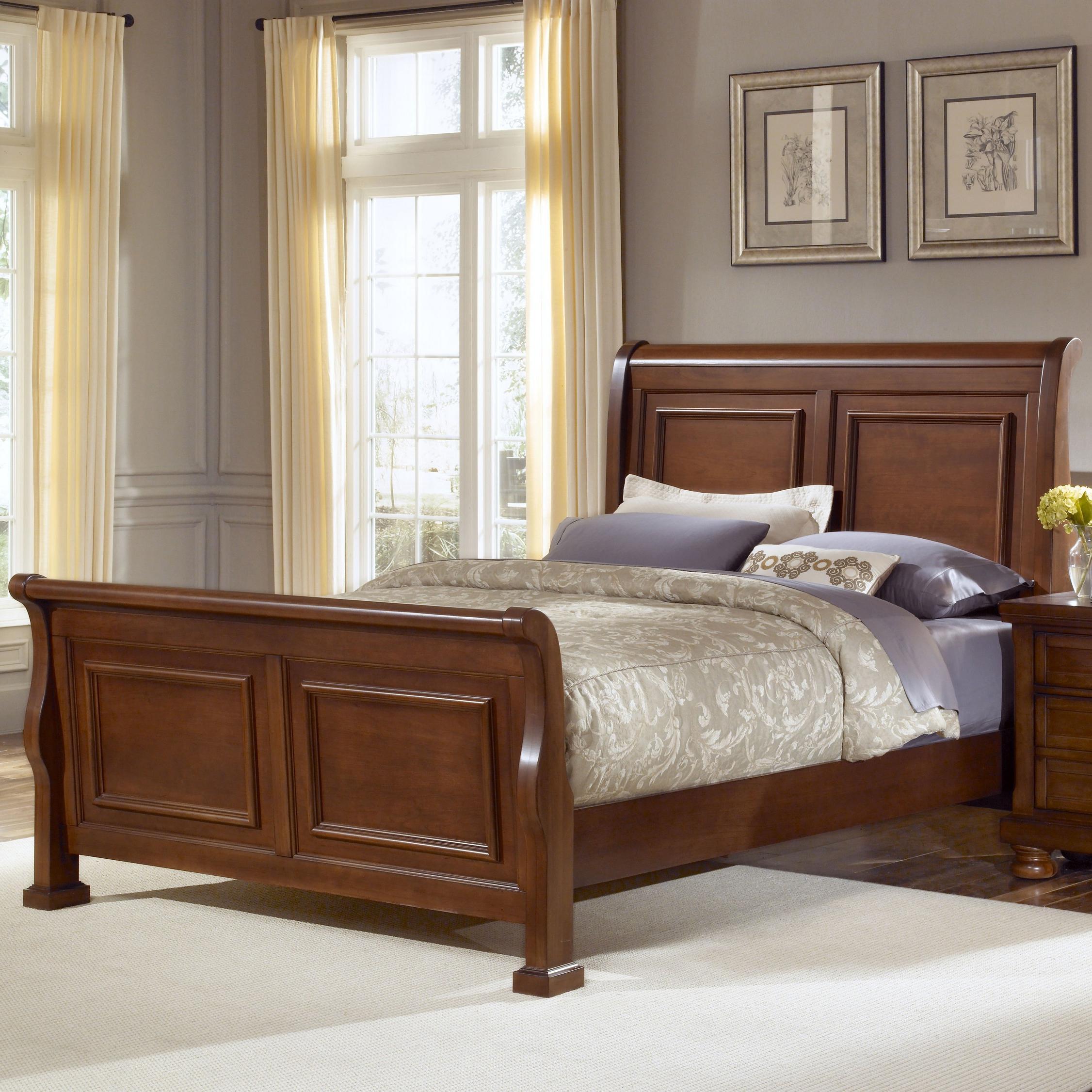 Vaughan Bassett Reflections King Sleigh Bed Belfort Furniture Sleigh Beds