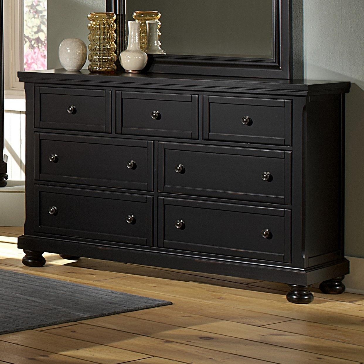 Vaughan Bassett Reflections Triple Dresser 7 Drawers Value City Furniture Dressers