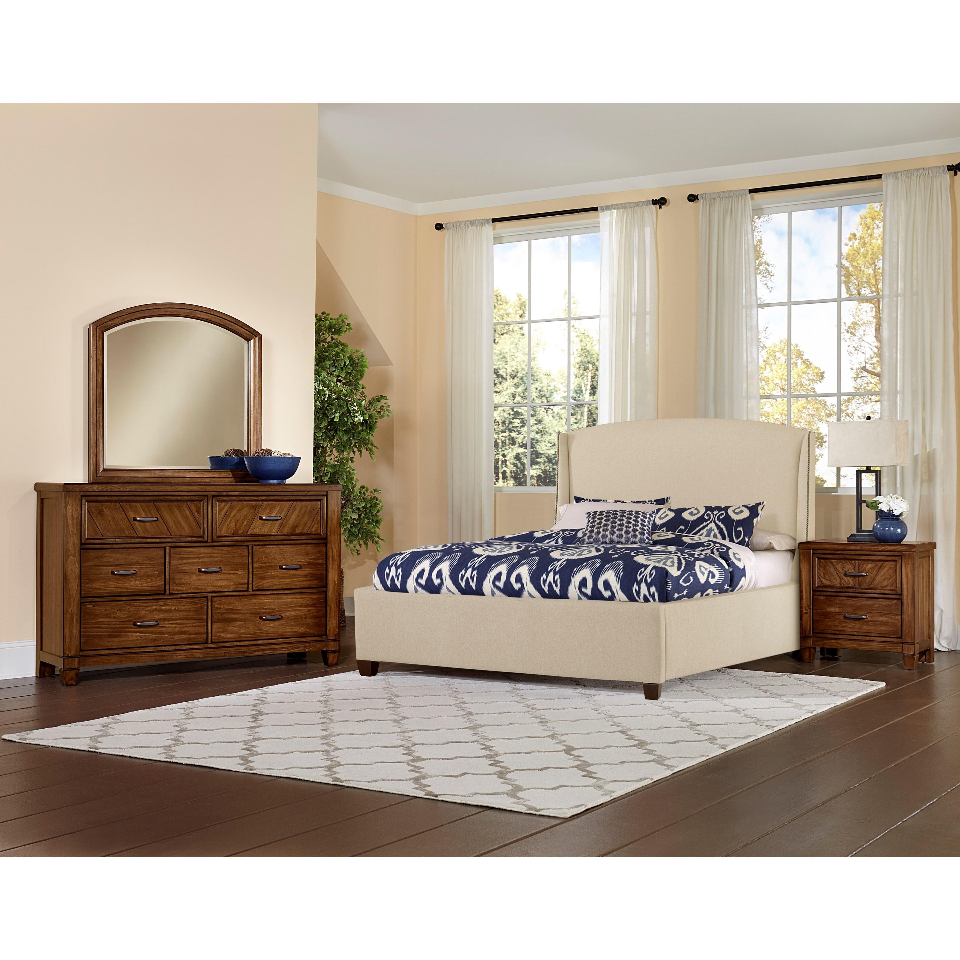 Vaughan bassett rustic cottage king bedroom group for Rustic cottage bedroom