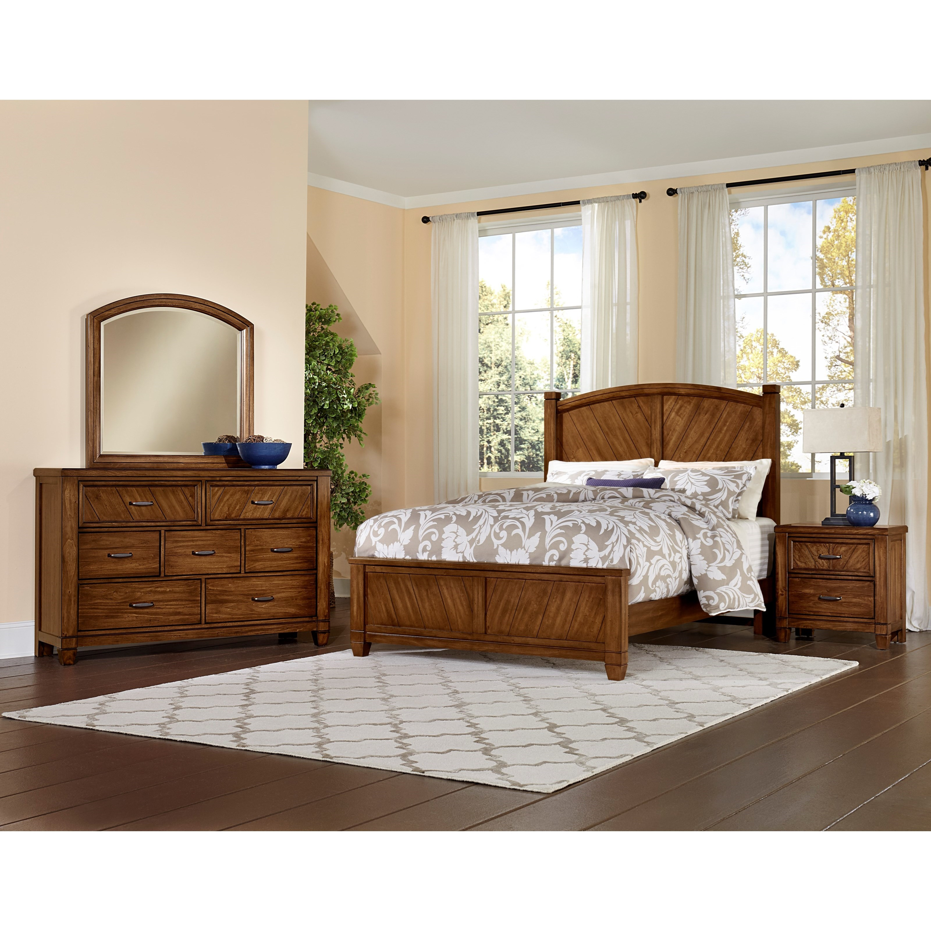 Vaughan Bassett Rustic Cottage Queen Bedroom Group Darvin Furniture Bedroom Groups