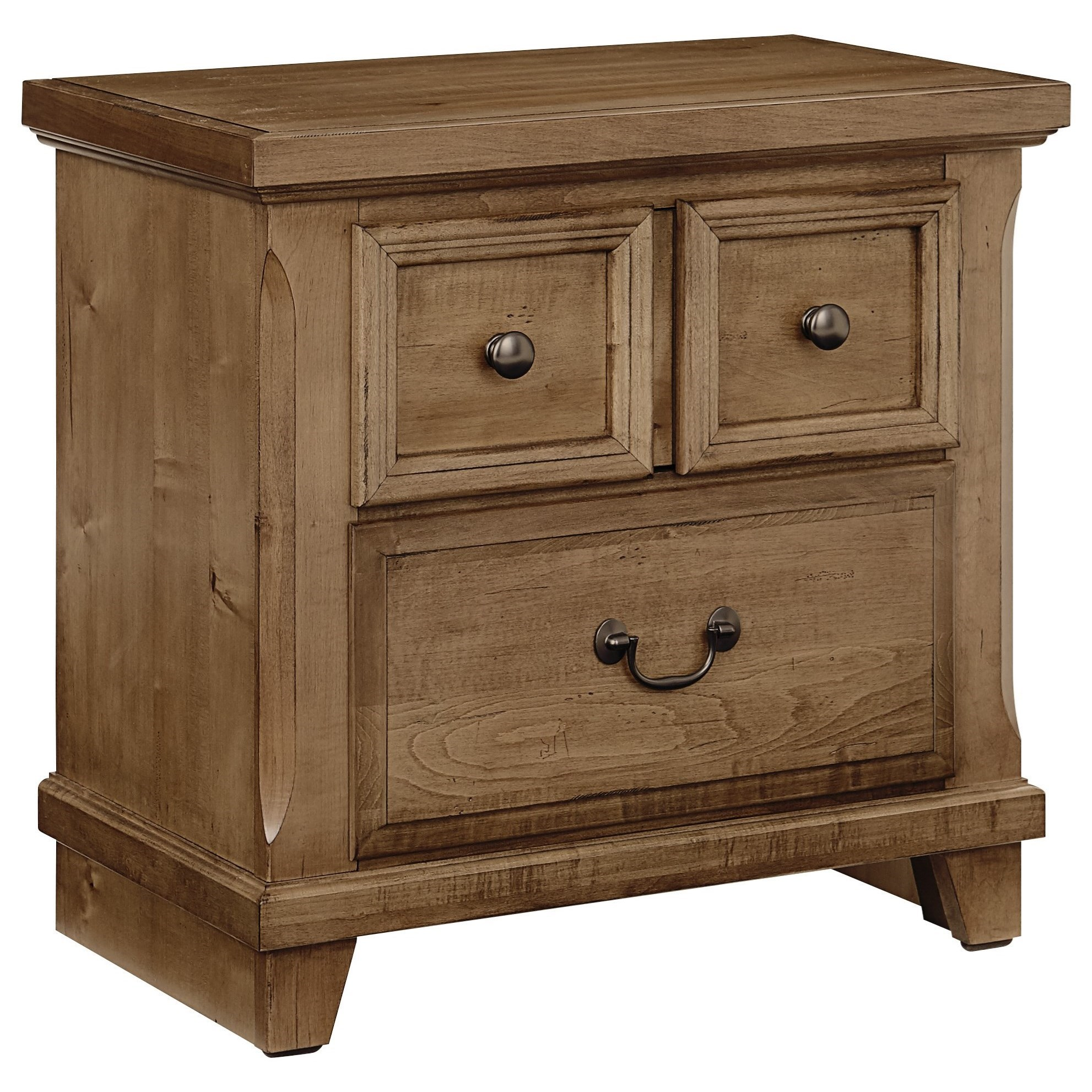 Vaughan Bassett Timber Creek Nightstand 2 Drawers