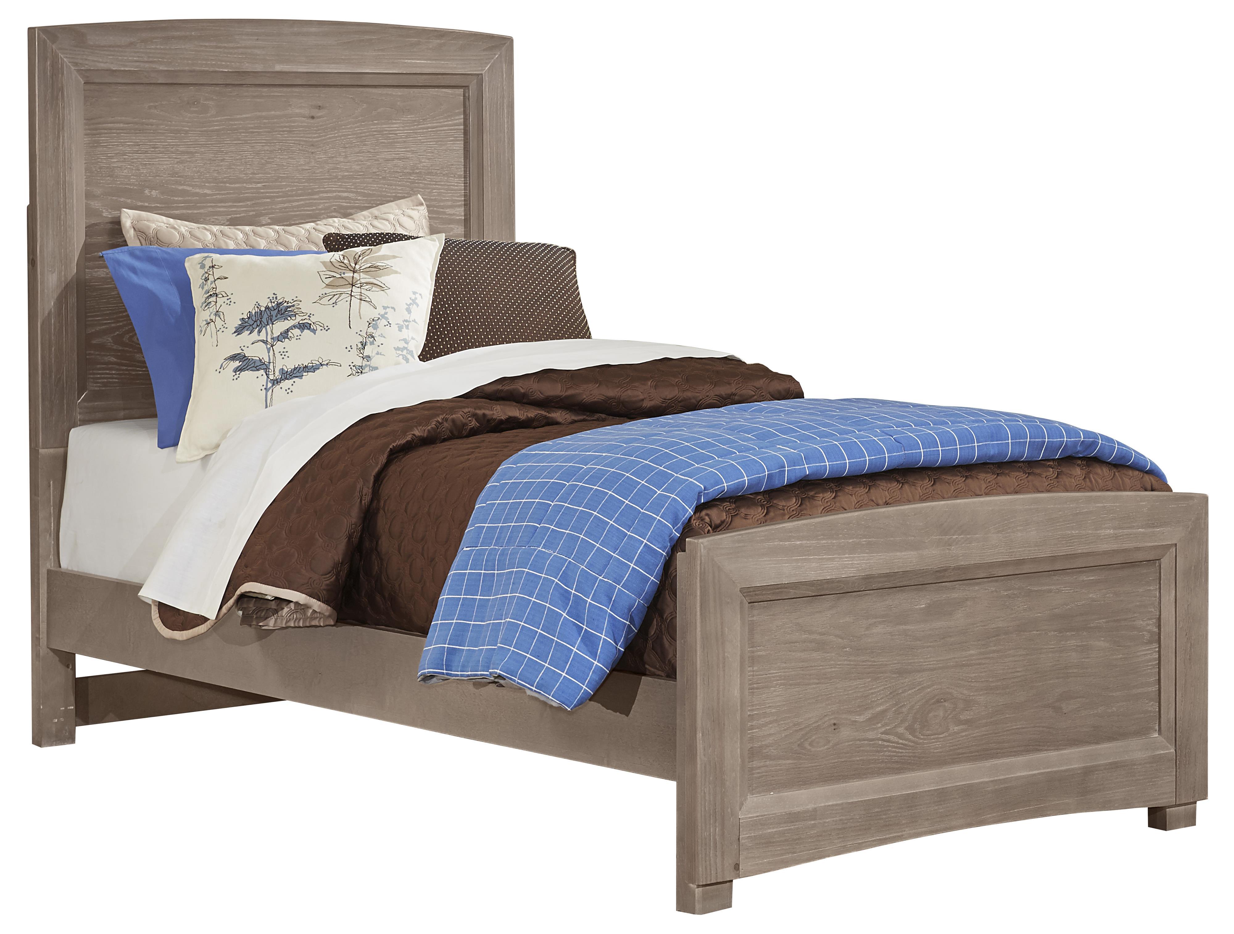 Vaughan bassett transitions twin panel bed mueller for Panel bed mattress