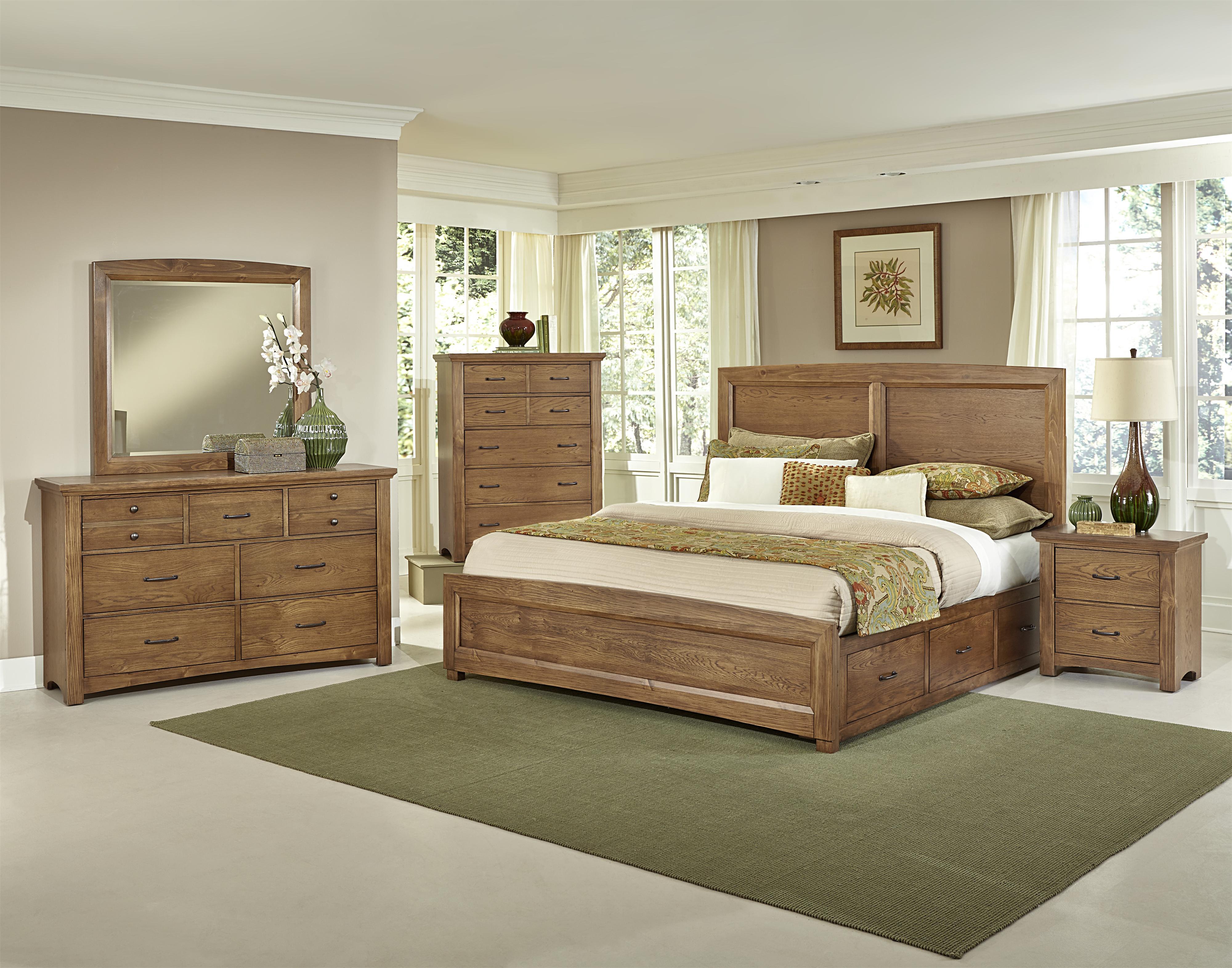 vaughan bassett transitions queen bedroom group wayside