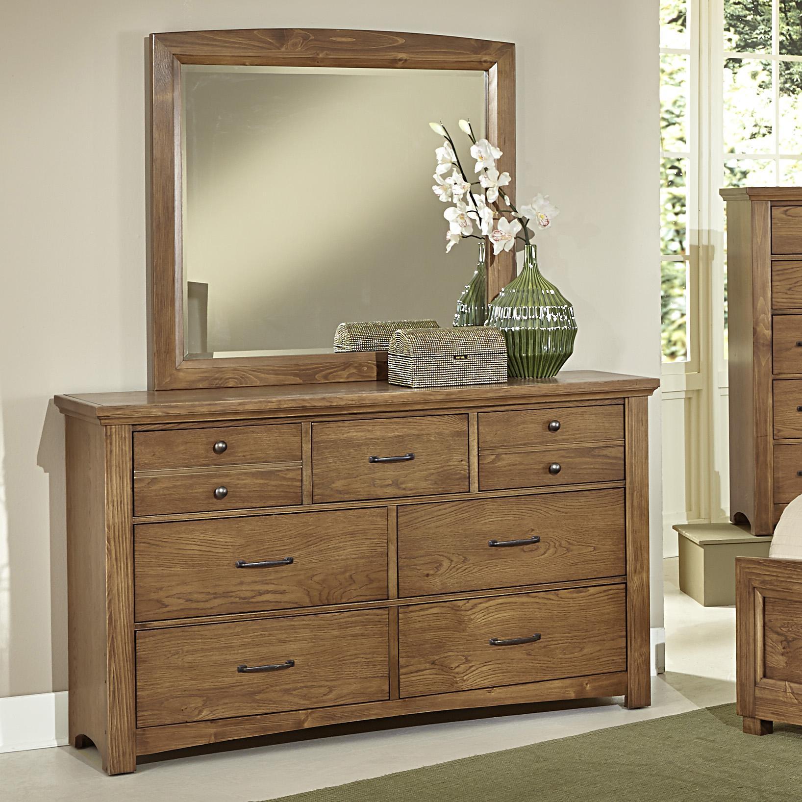 Vaughan Bassett Transitions Dresser & Landscape Mirror ...