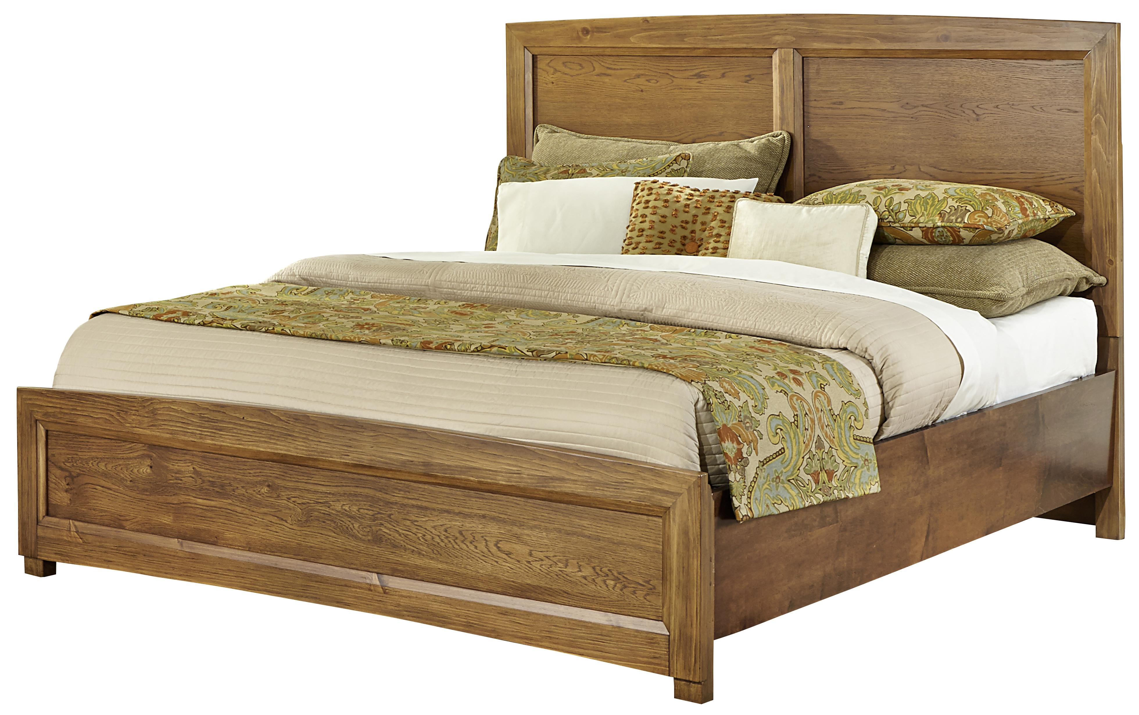 Vaughan bassett transitions queen panel bed johnny for Panel bed mattress