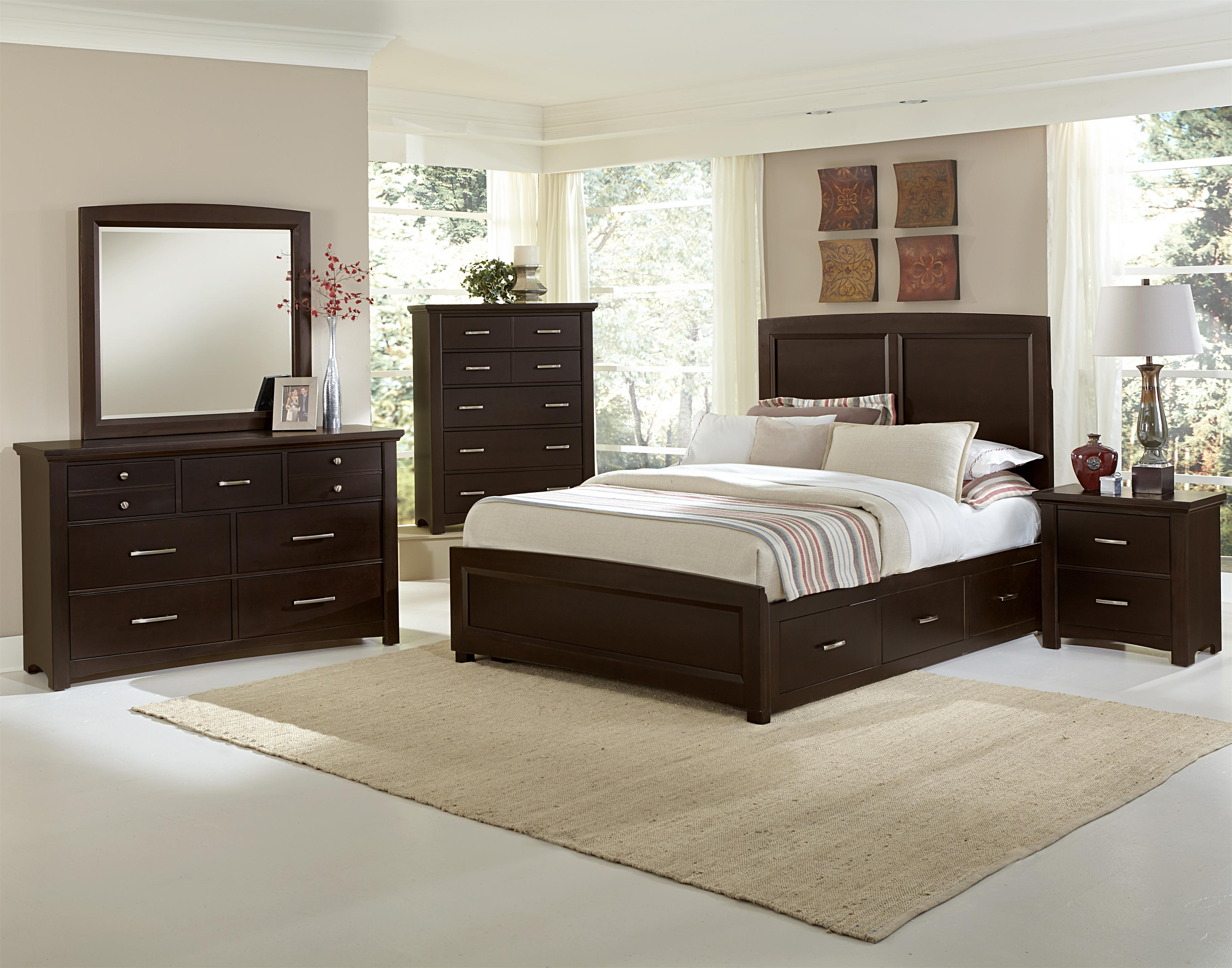 Vaughan bassett transitions king bedroom group belfort for Bedroom furniture groups