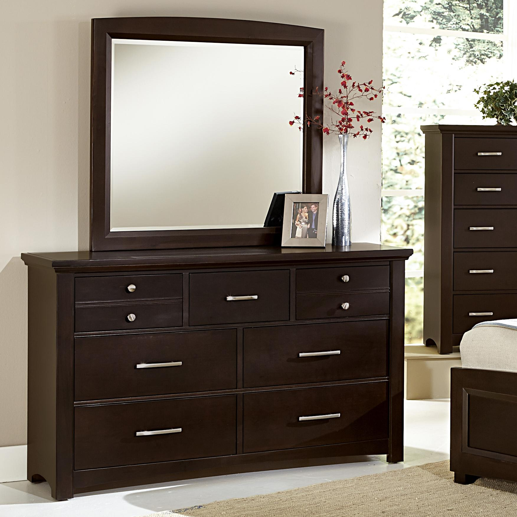 Vaughan Bassett Transitions Dresser Landscape Mirror Belfort Furniture Dresser Mirror Sets