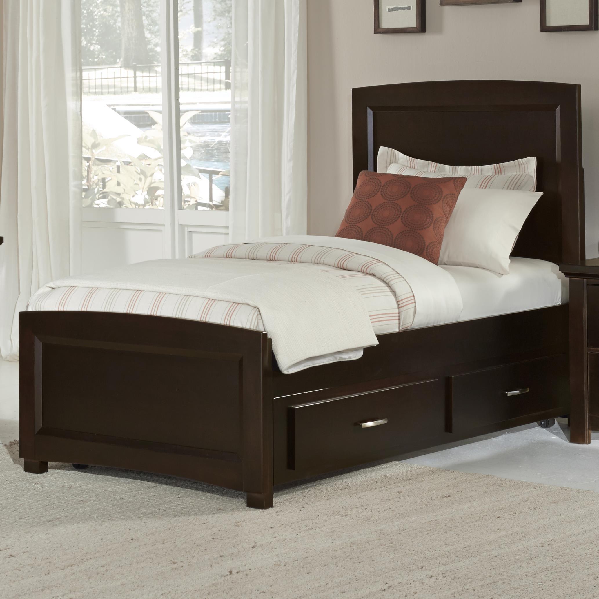 vaughan bassett transitions twin panel bed with trundle becker furniture world platform beds. Black Bedroom Furniture Sets. Home Design Ideas