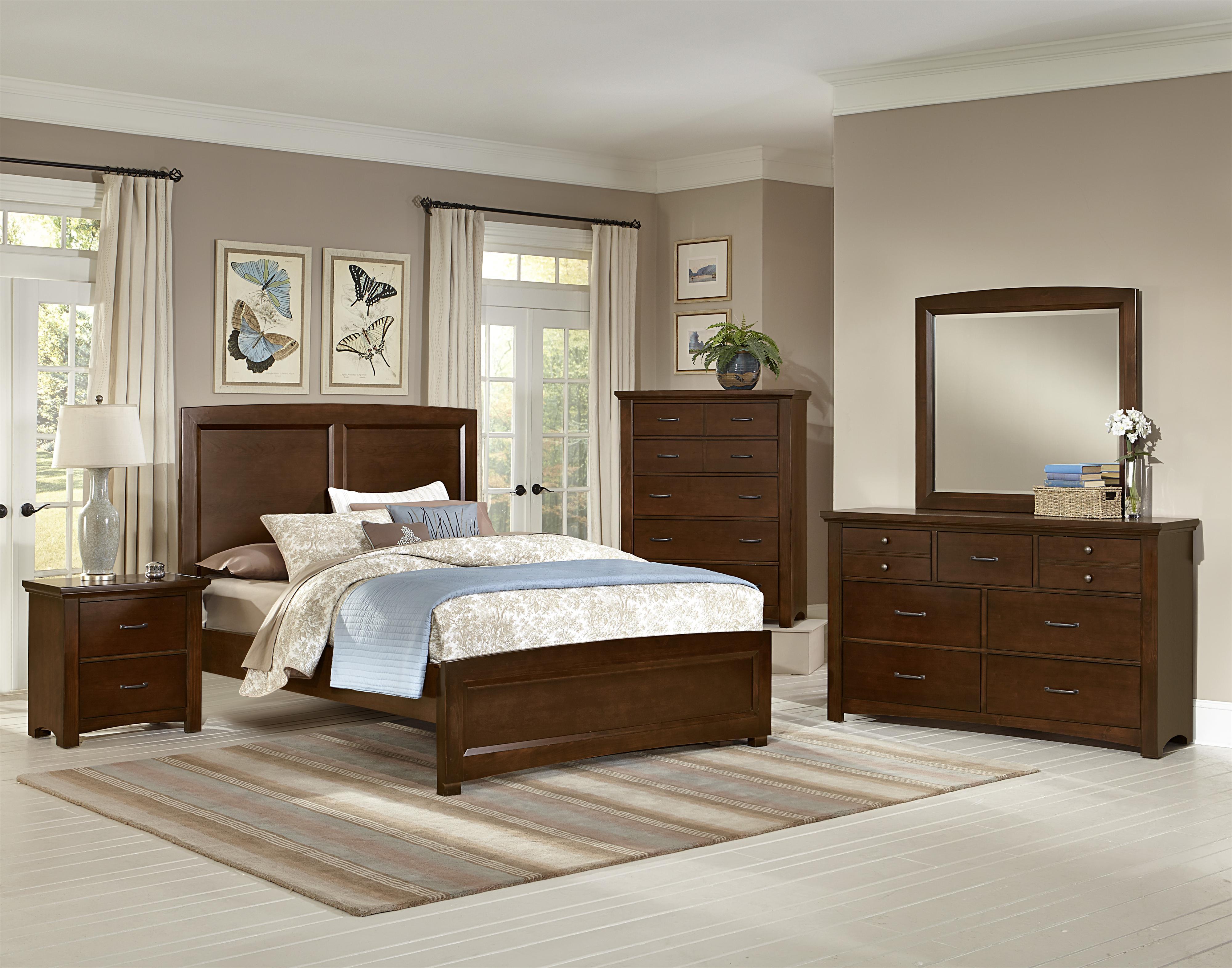 Vaughan bassett transitions queen bedroom group belfort for Bedroom groups