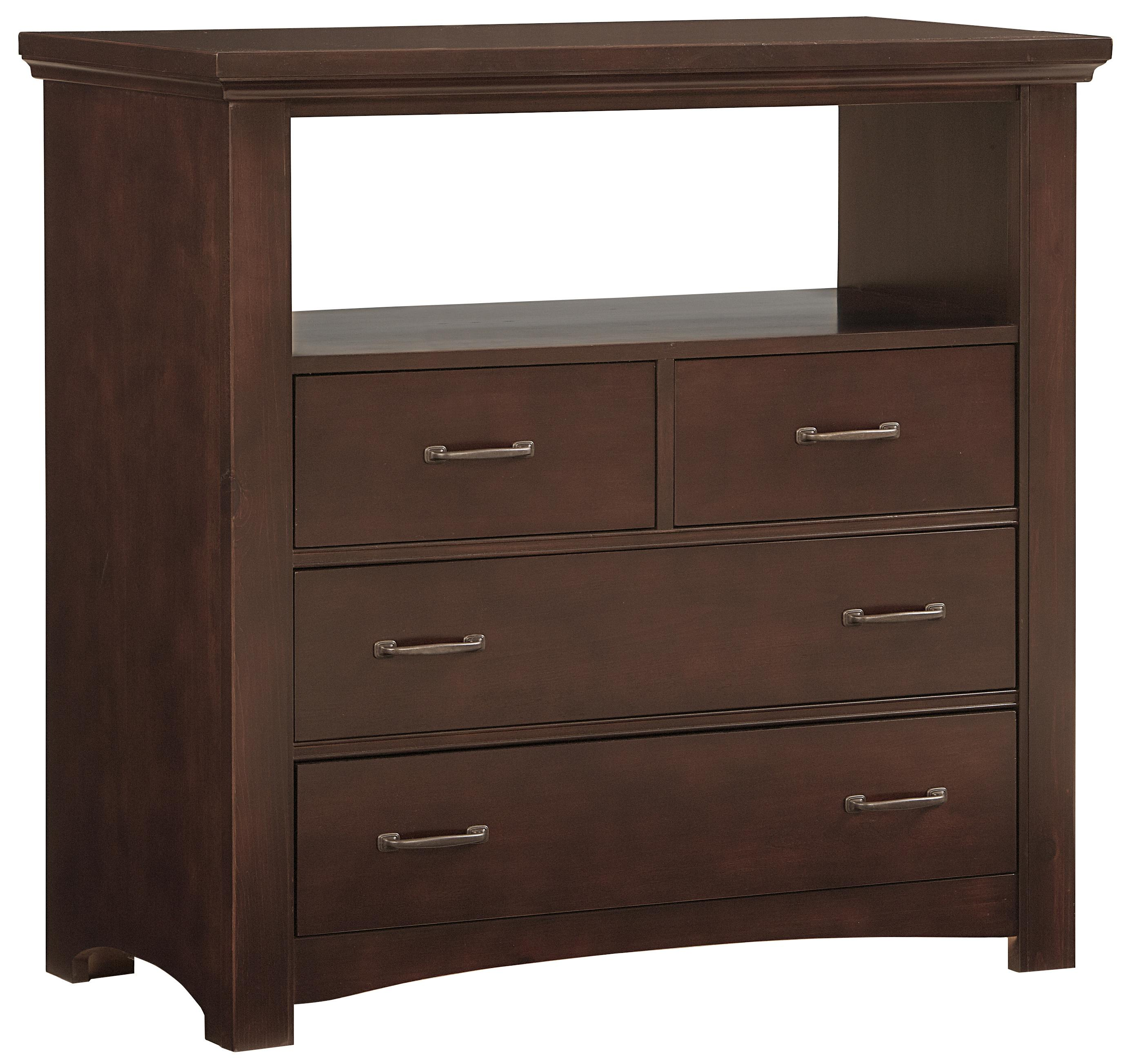 vaughan bassett transitions casual contemporary media chest 4 drawers belfort furniture. Black Bedroom Furniture Sets. Home Design Ideas