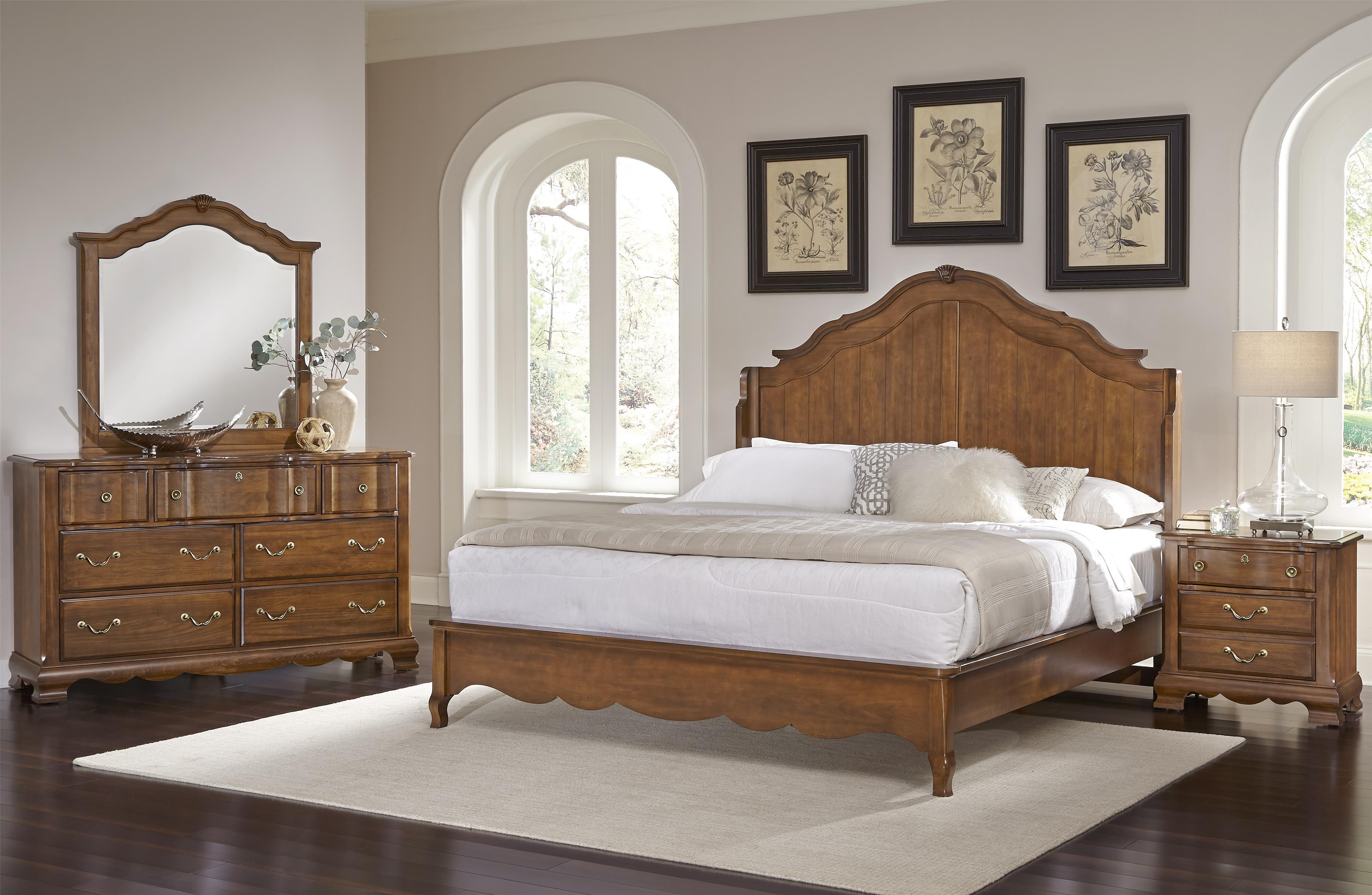 Vaughan Bassett Villa Sophia King Bedroom Group Olinde 39 S Furniture Be