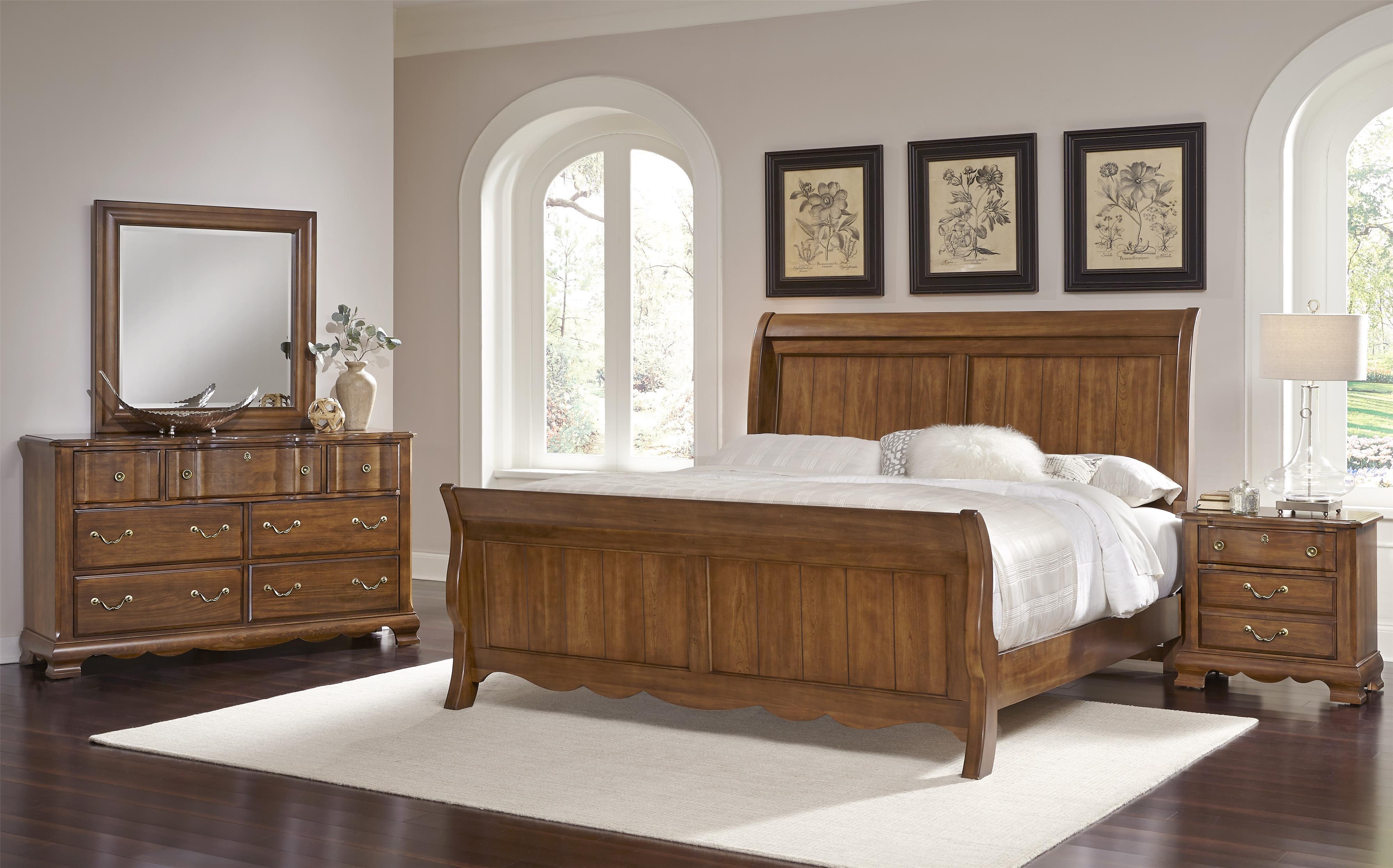vaughan bassett villa sophia king bedroom group belfort furniture