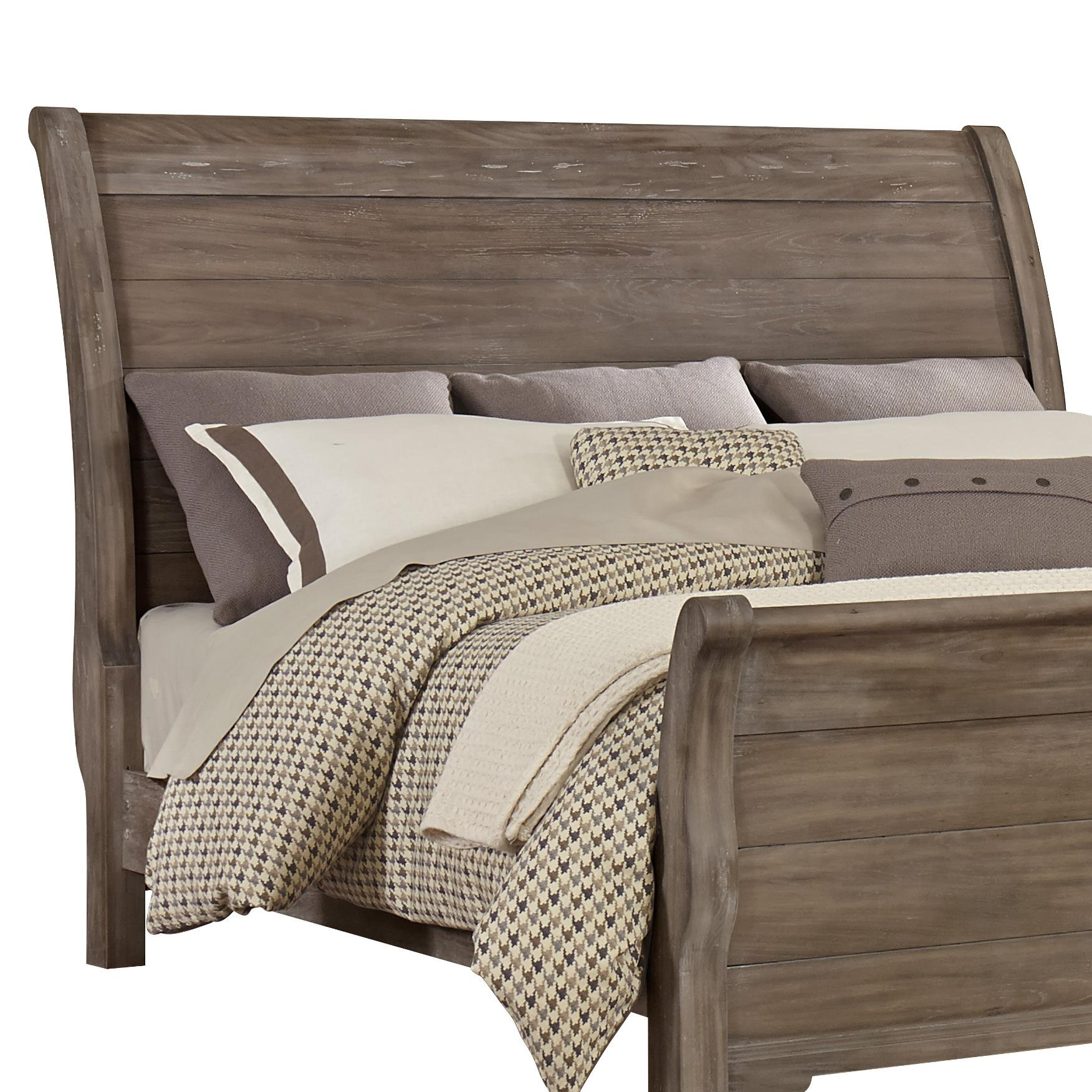 vaughan bassett whiskey barrel distressed queen sleigh. Black Bedroom Furniture Sets. Home Design Ideas