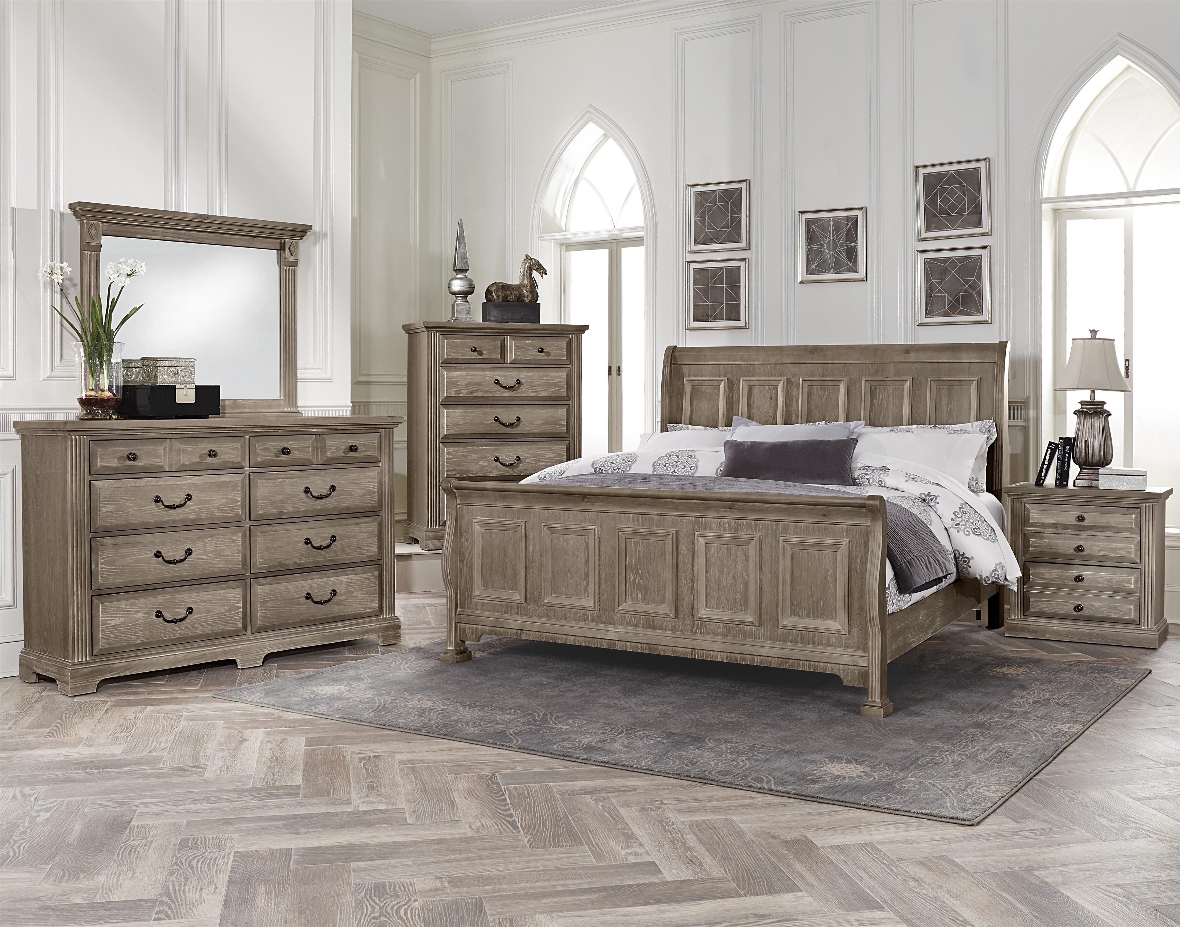 Vaughan bassett woodlands bb96 226 transitional night stand 2 drawers great american home for Discontinued bassett bedroom furniture