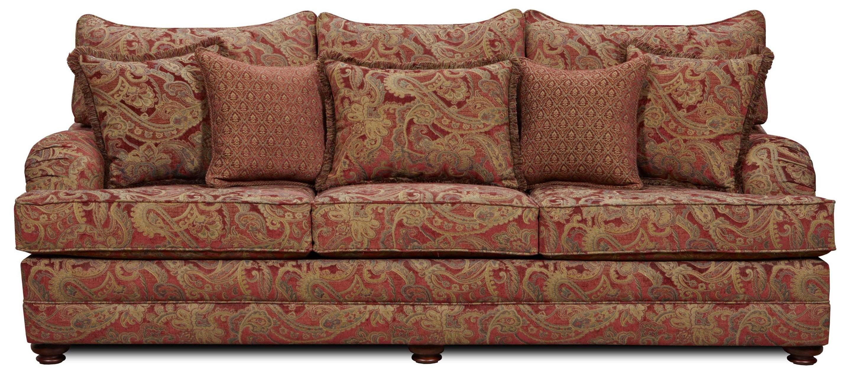 Traditional Sofa Throw Pillows : Washington 1130 Traditional Sofa with Throw Pillows Bennett s Home Furnishings Sofa