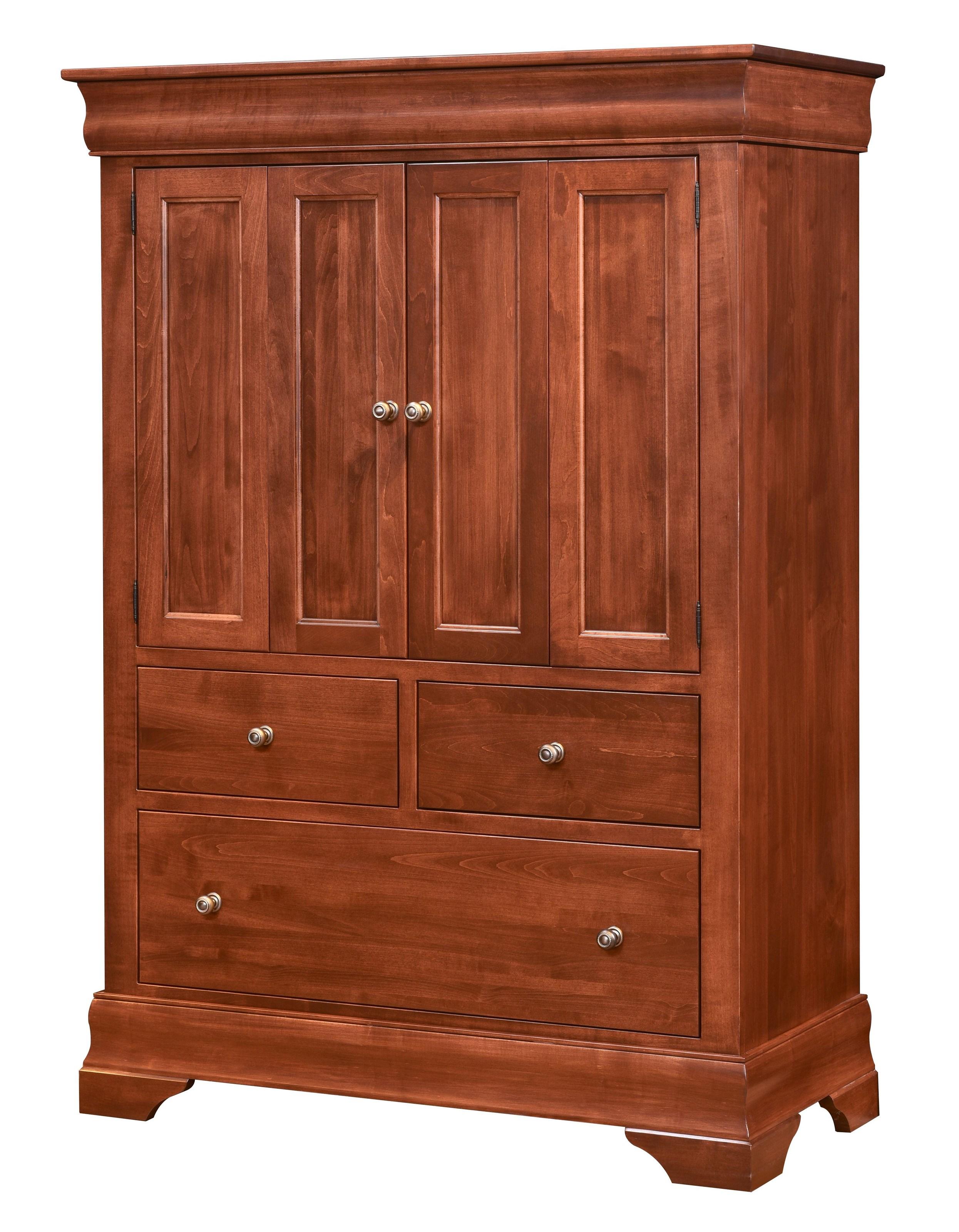 Wayside custom furniture chateau armoire 2 door 3 drawers for Wayside furniture