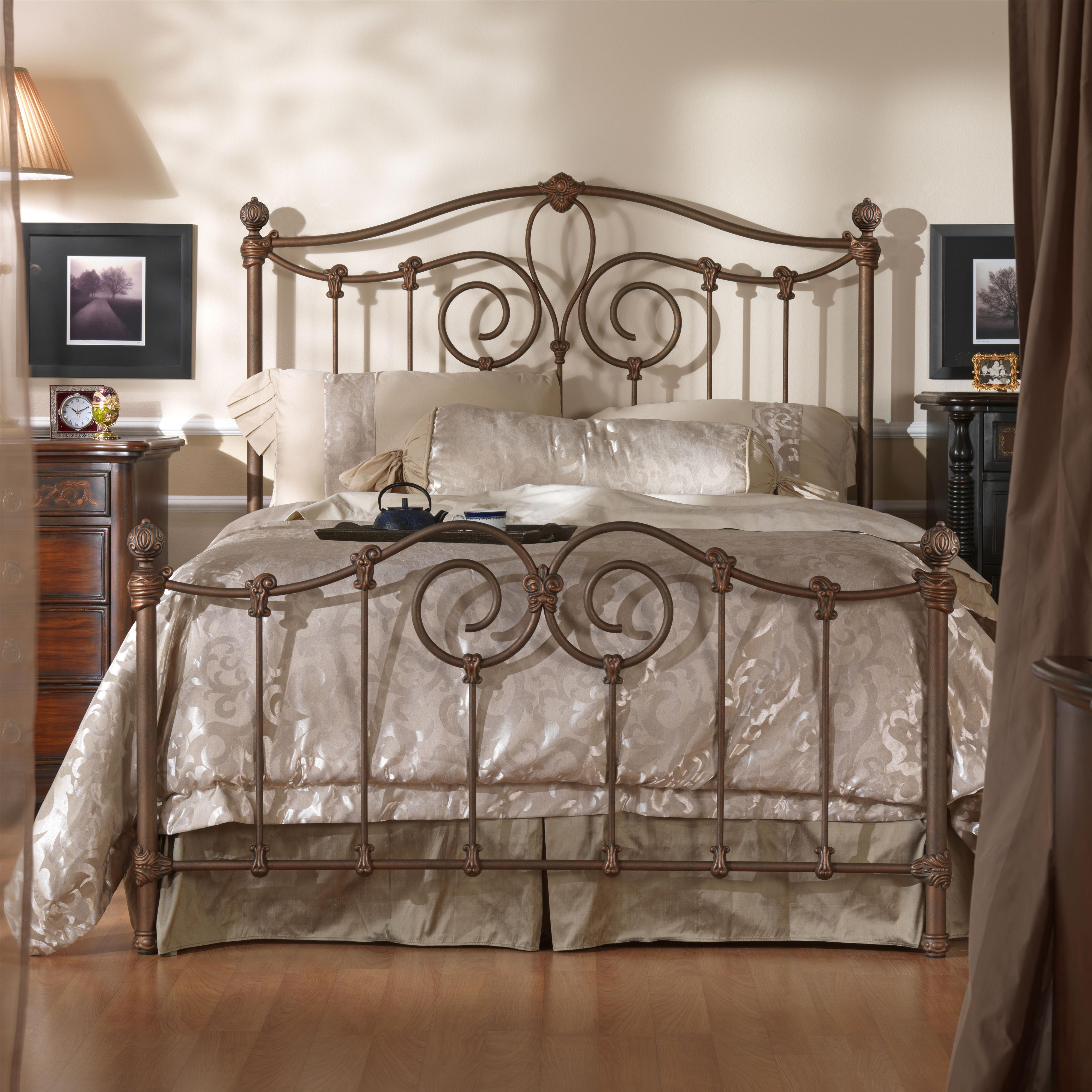 Wesley allen iron beds king olympia metal bed wayside for Iron bedroom furniture