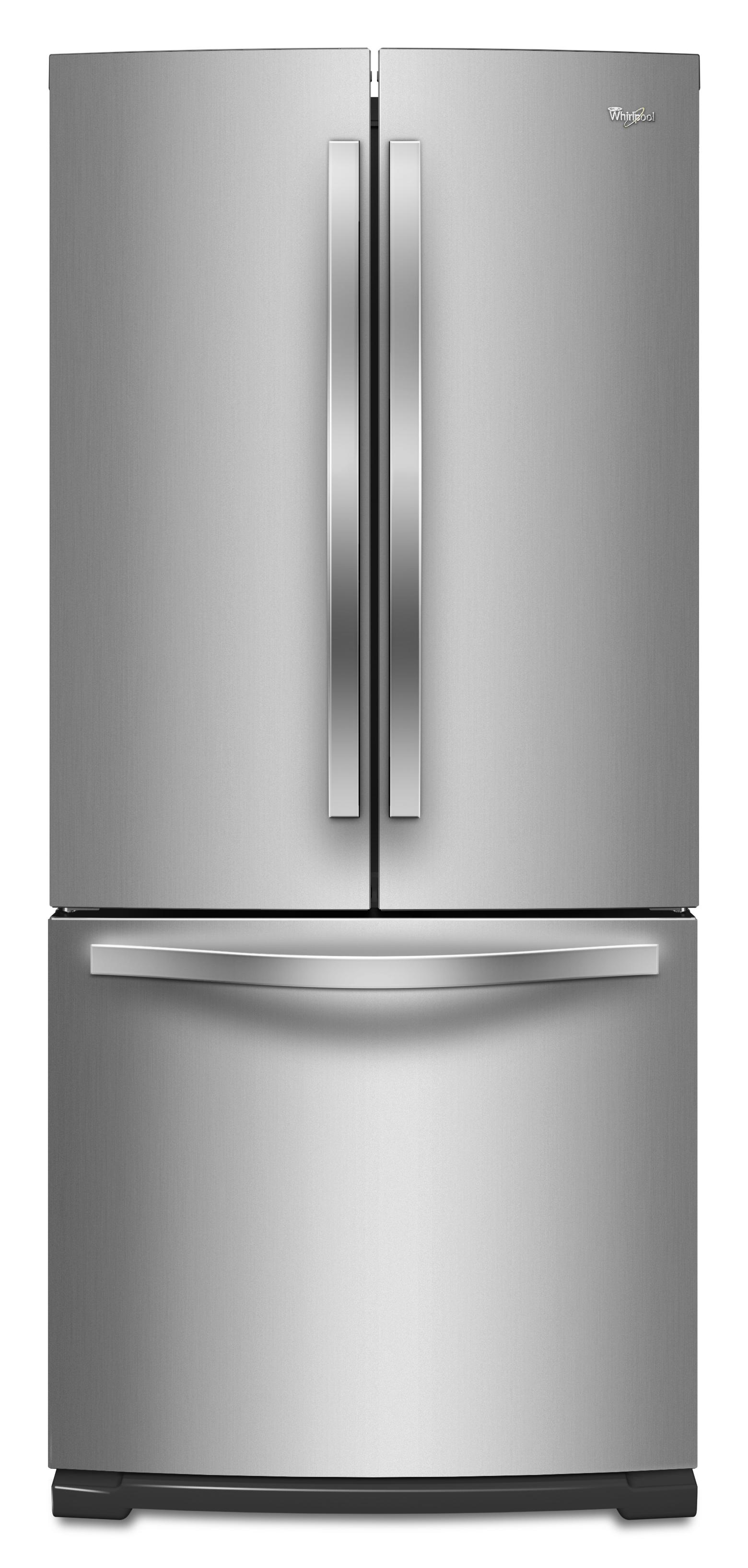 Whirlpool energy star 19 6 cu ft french door for 19 5 cu ft french door refrigerator