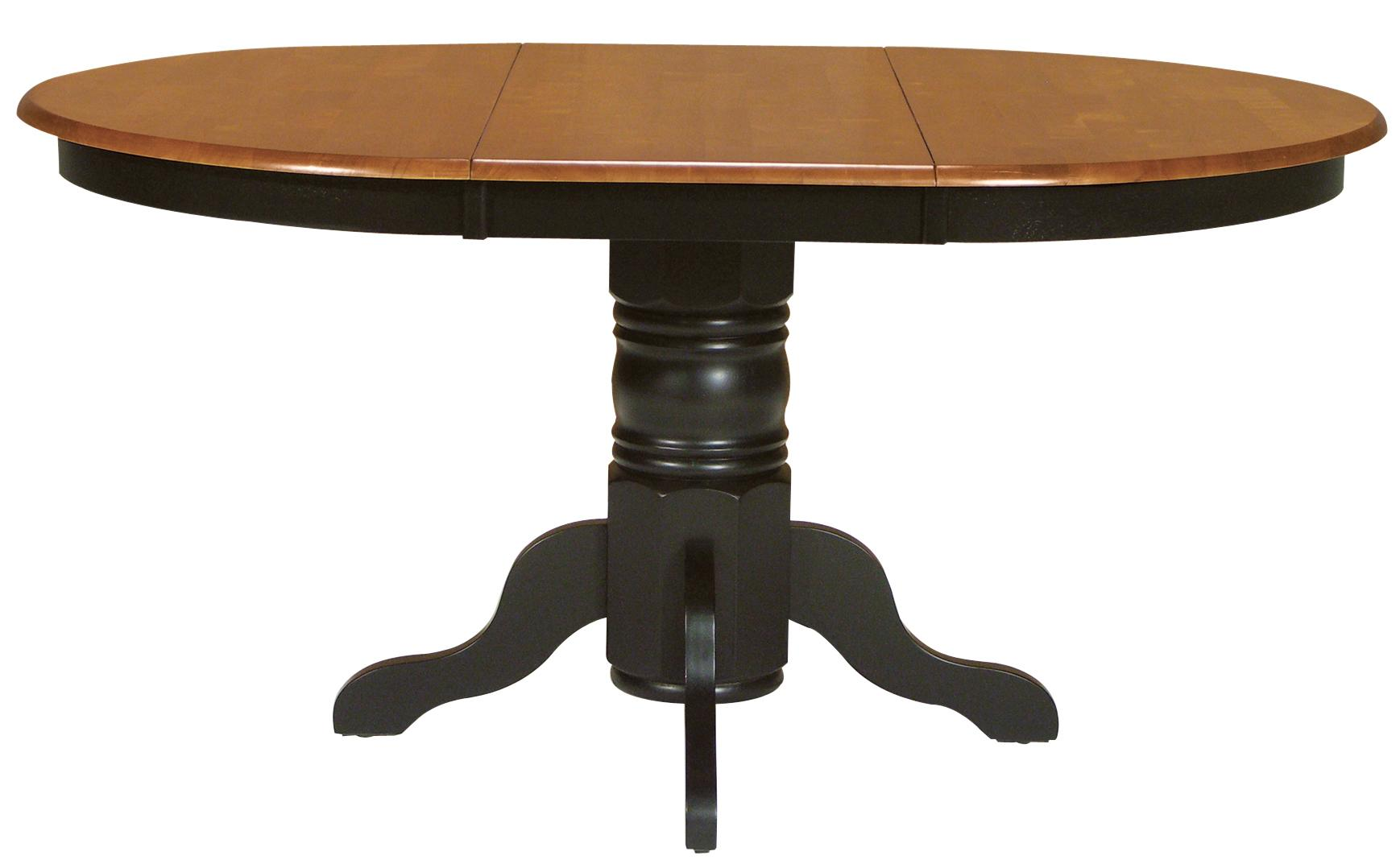 Toned Oval Dining Table With Turned Pedestal Base Part Of The Dining