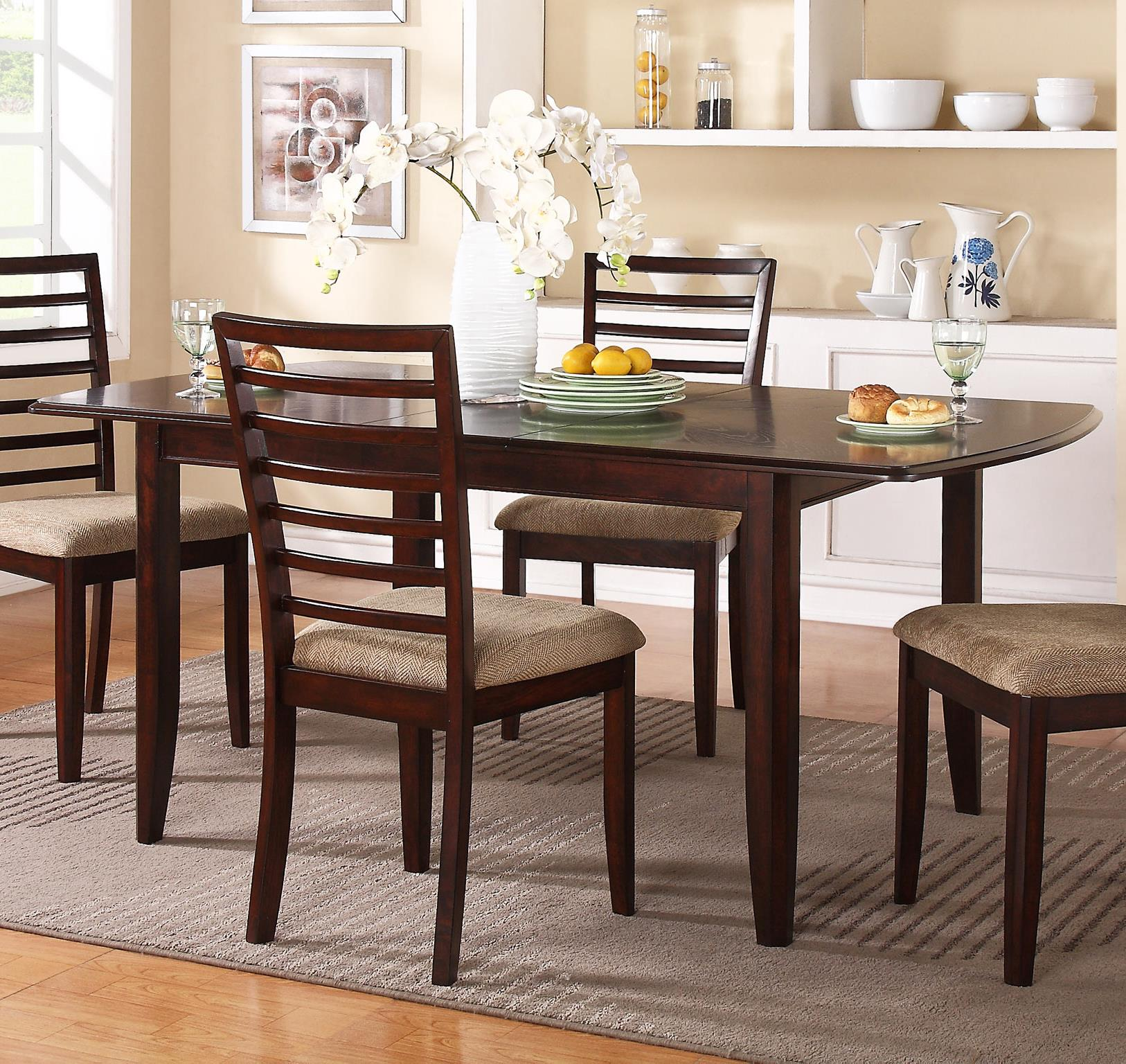 Winners only brownstone db14072c 72 leg table with for Kitchen table only