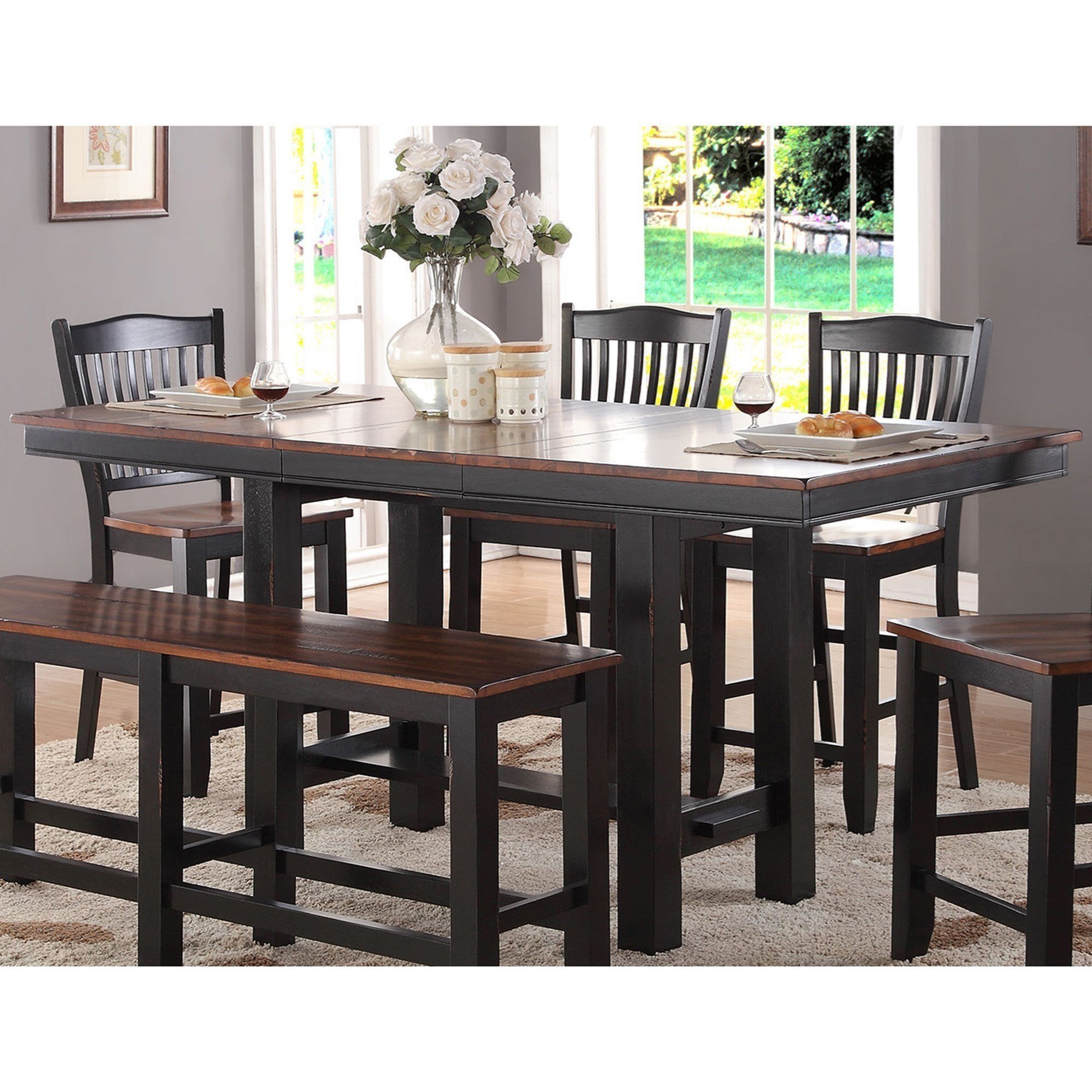"""Winners ly Carson Counter Height Leg Table with 18"""" Leaf"""