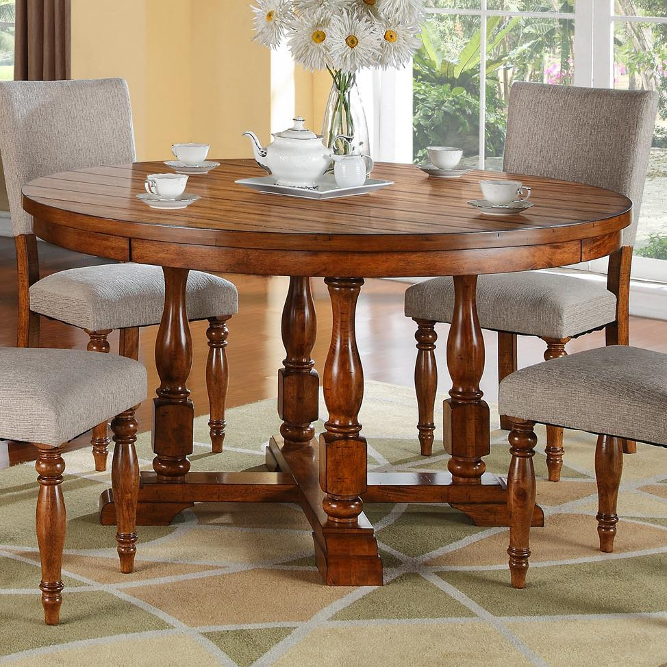 Winners only grand estate dg25858 58 round table with an for Kitchen table only