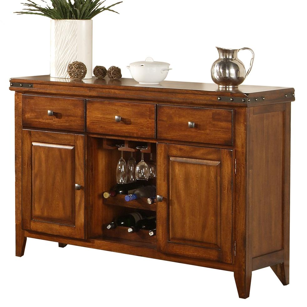 colton sideboard with wine rack rotmans sideboards. Black Bedroom Furniture Sets. Home Design Ideas