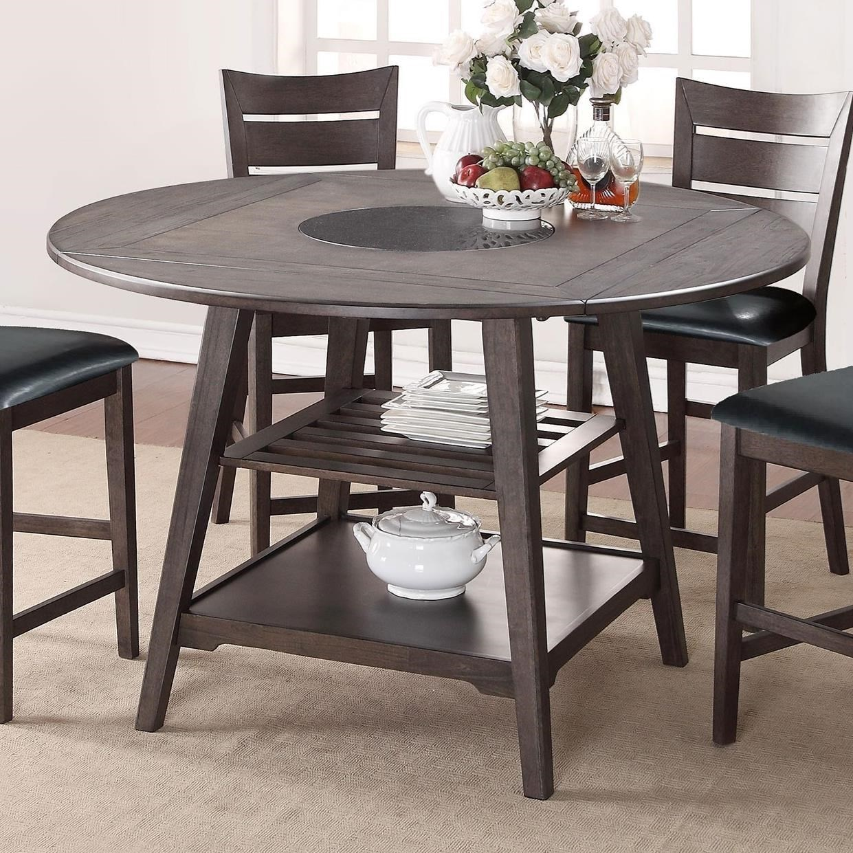 winners only parkside drop leaf counter height table with shelves steger 39 s furniture pub tables. Black Bedroom Furniture Sets. Home Design Ideas