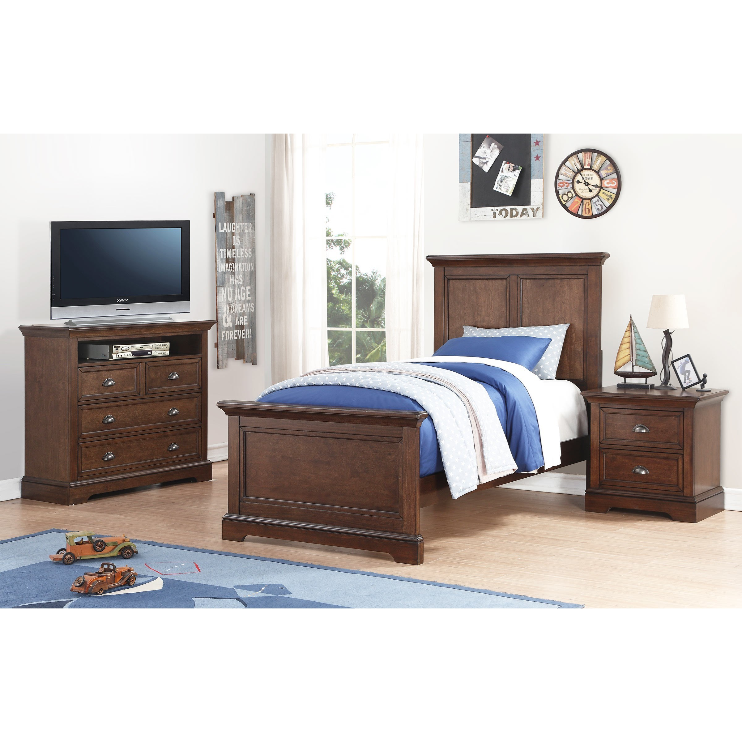 Winners only tamarack twin bedroom group dunk bright for Bedroom furniture groups