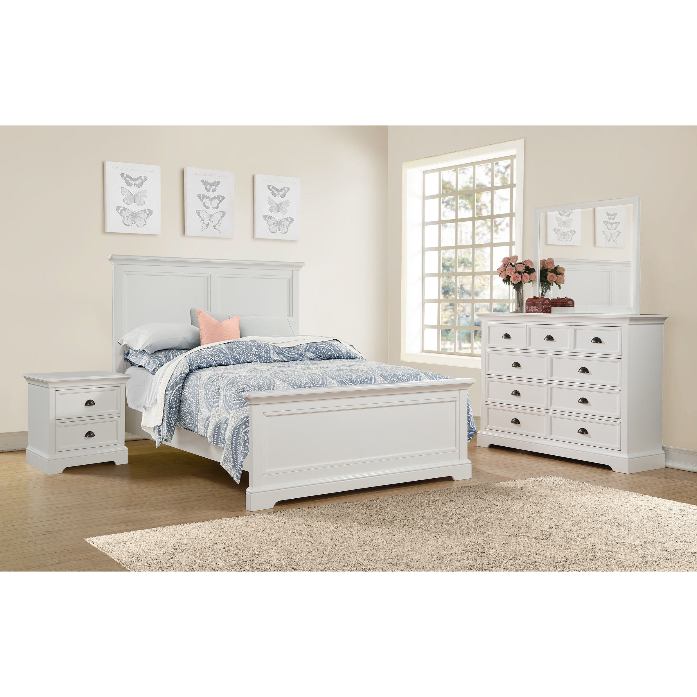 Winners only tamarack queen bedroom group dunk bright for Bedroom furniture groups
