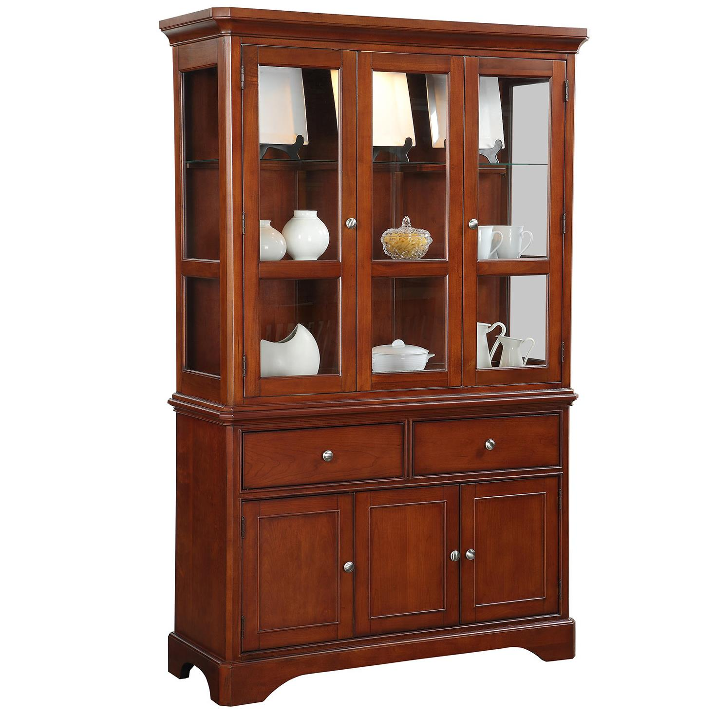 Winners only topaz buffet and hutch dunk bright furniture china cabinet Home furniture from china