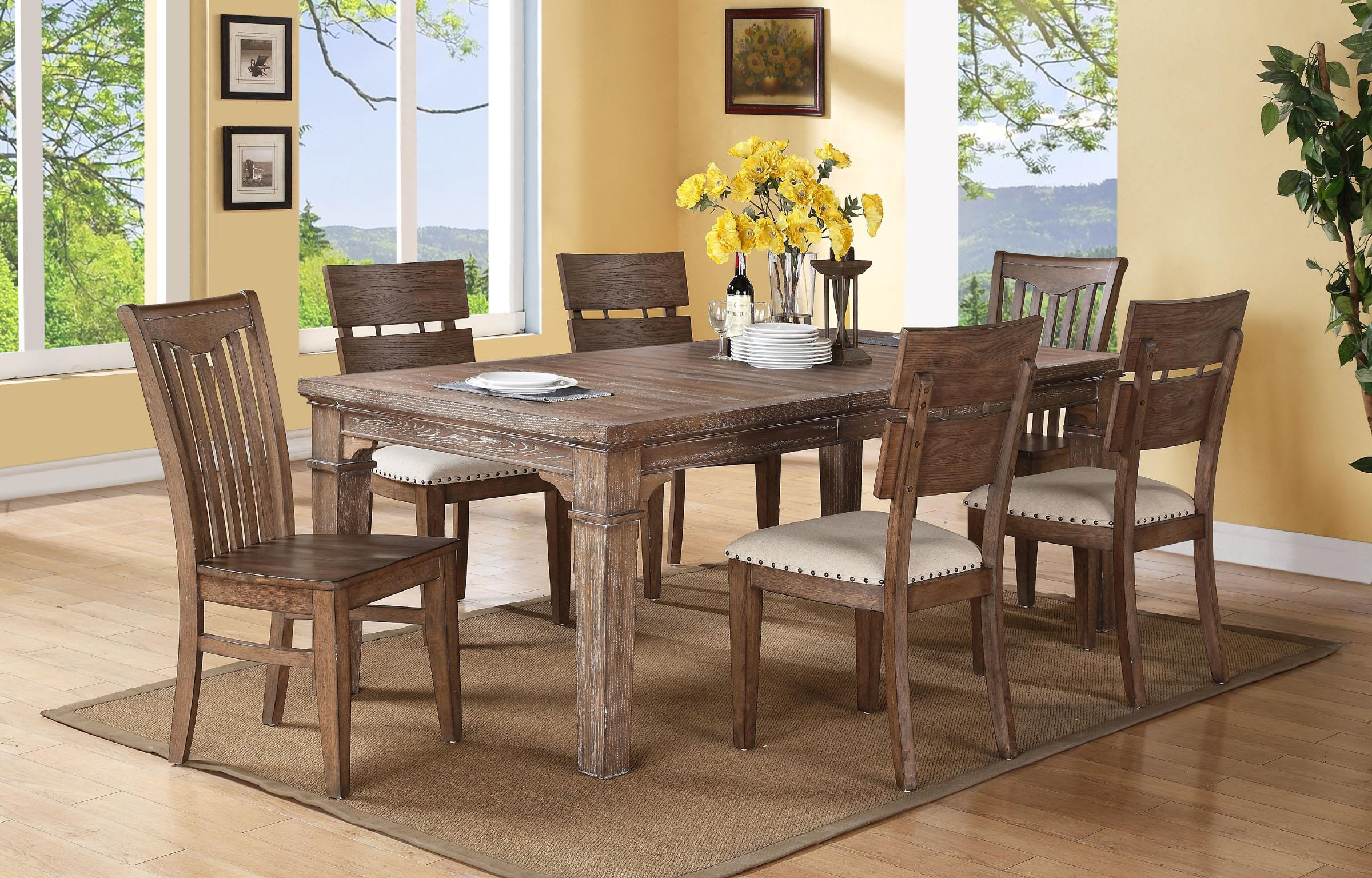 Winners only urbana du14184g 84 leg table with 18 for Dining room table only