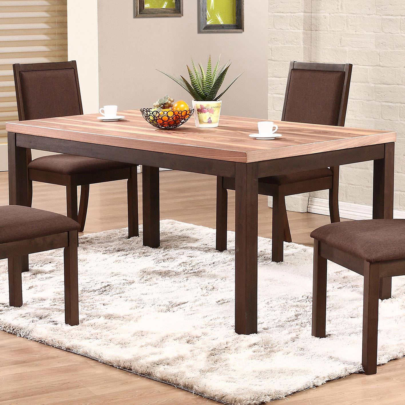 Winners only venice dv23666 66 two tone leg table dunk for Dining room table only