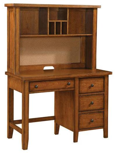 winners only vintage youth single pedestal desk   hutch