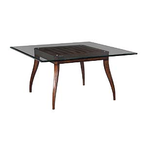 dining table with glass top home accents by woodbridge