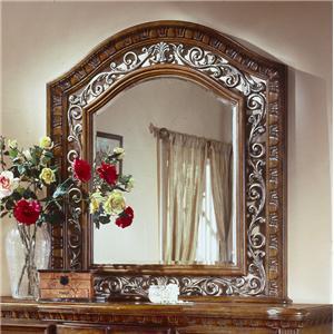 Flexsteel Wynwood Collection Antiguo Blanco King Mansion Bed BigFurnitureWe