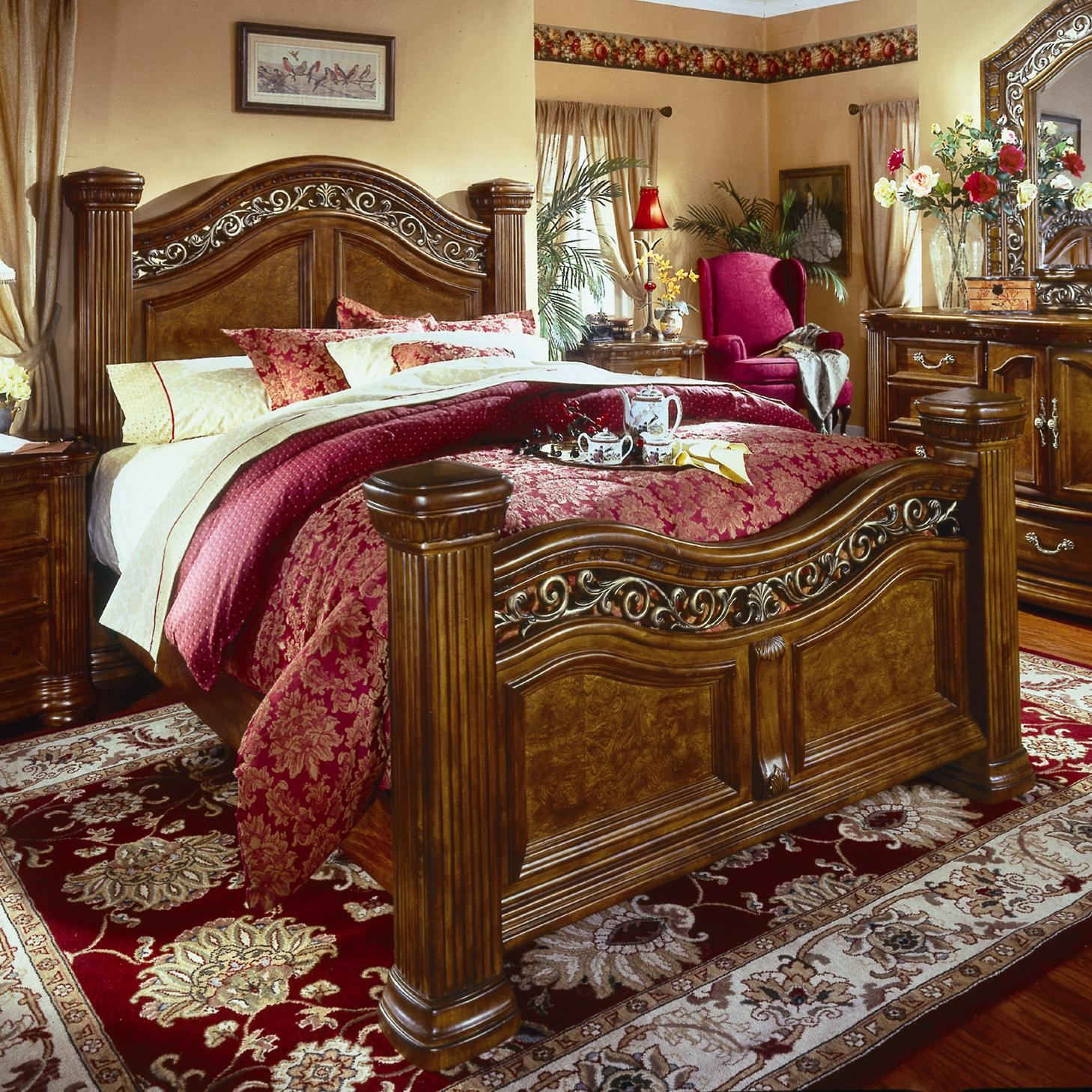 collection cordoba queen mansion bed olinde 39 s furniture panel beds