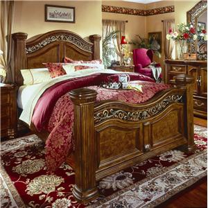 flexsteel wynwood collection antiguo blanco three drawer nightstand