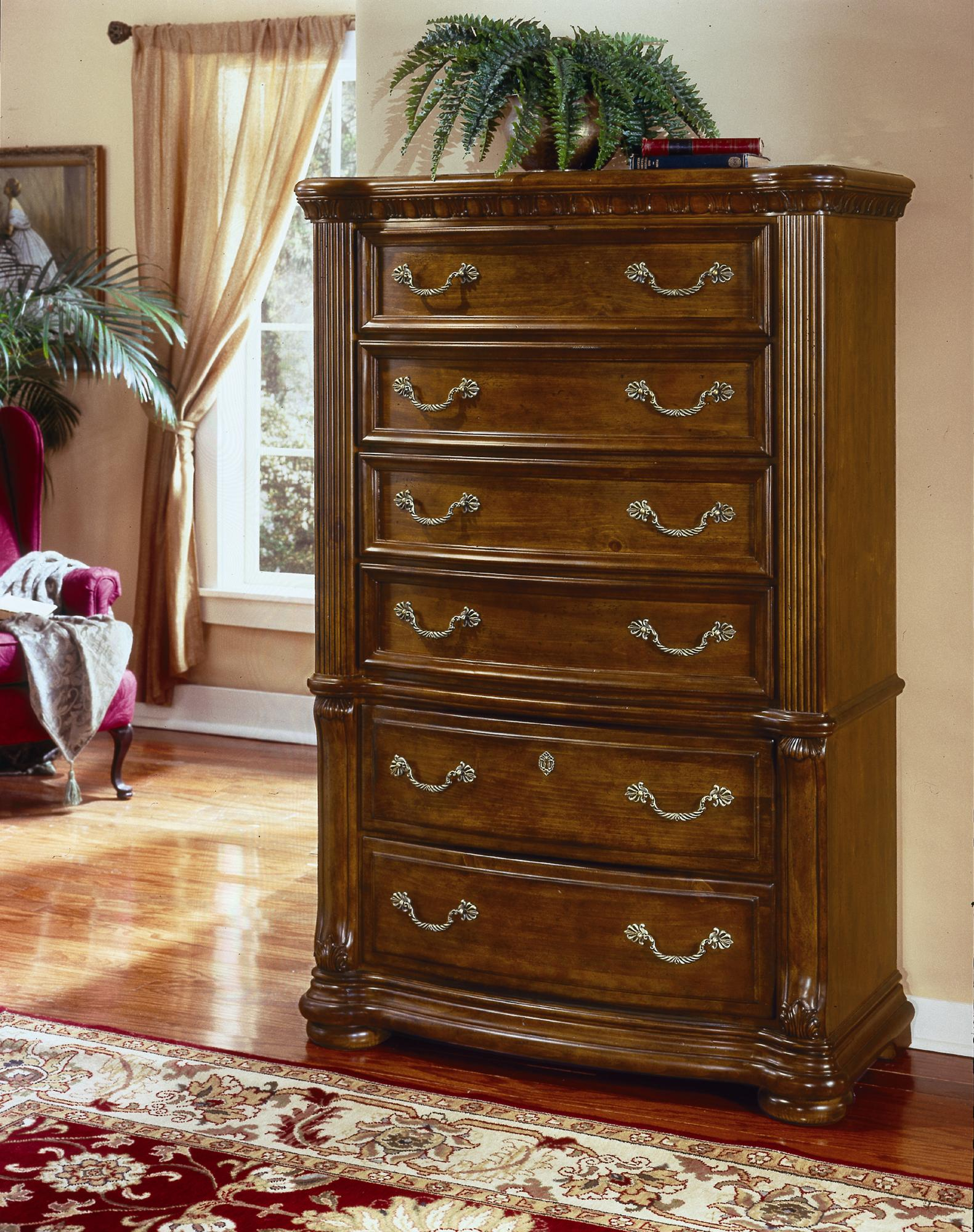 collection cordoba six drawer chest olinde 39 s furniture drawer