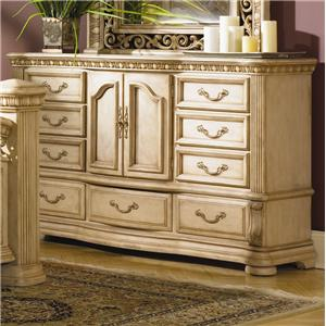 Flexsteel wynwood collection antiguo blanco king bedroom for Bedroom furniture indianapolis
