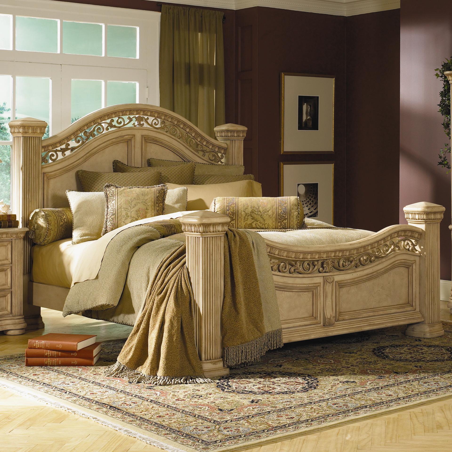 collection antiguo blanco queen mansion bed john v schultz furniture