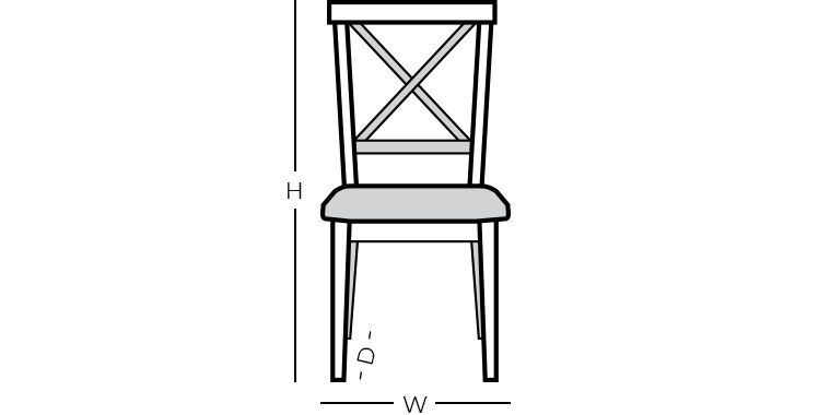 Dining Chair/Bar Stool Dimensions
