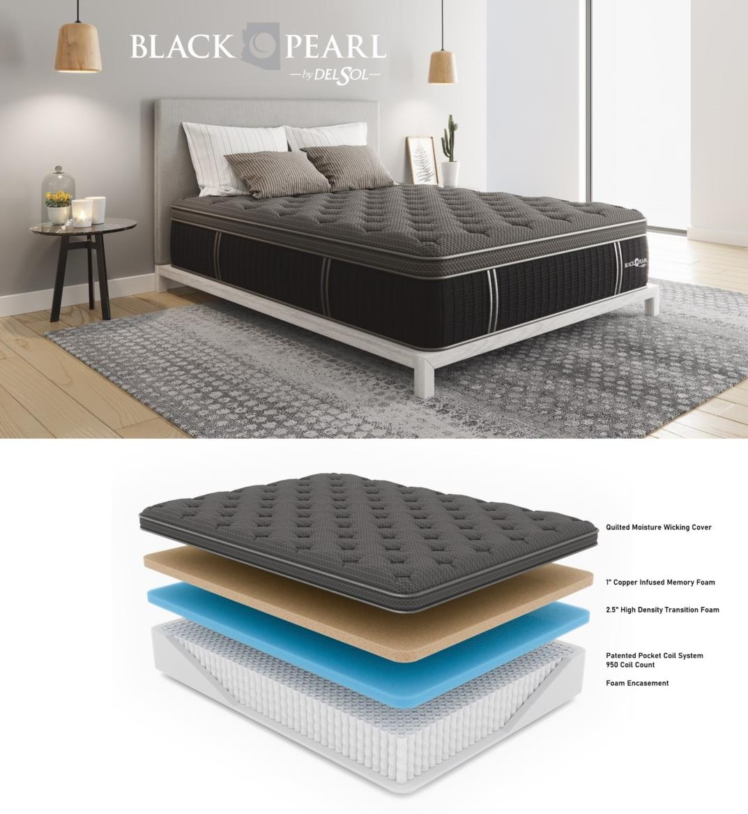 Black Pearl Mattress Collection