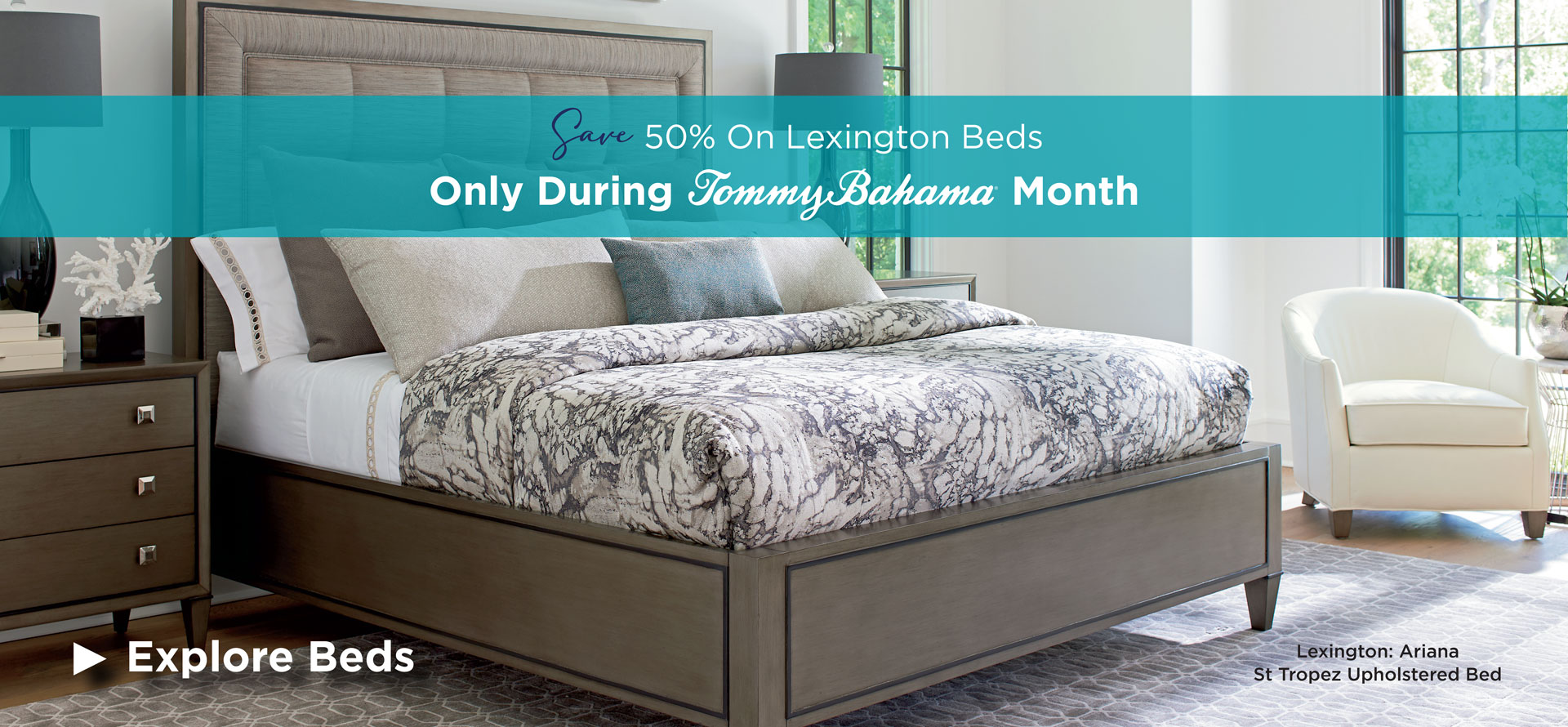 Save 50% on bedrooms during Tommy Bahama Month