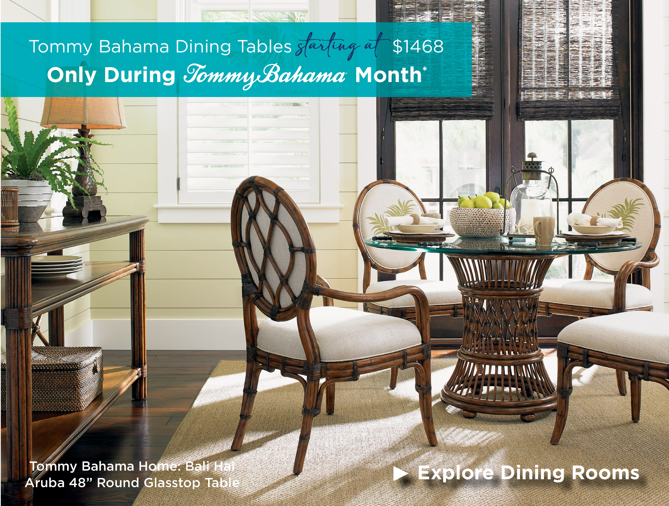Save 50% on Dining during Tommy Bahama Month