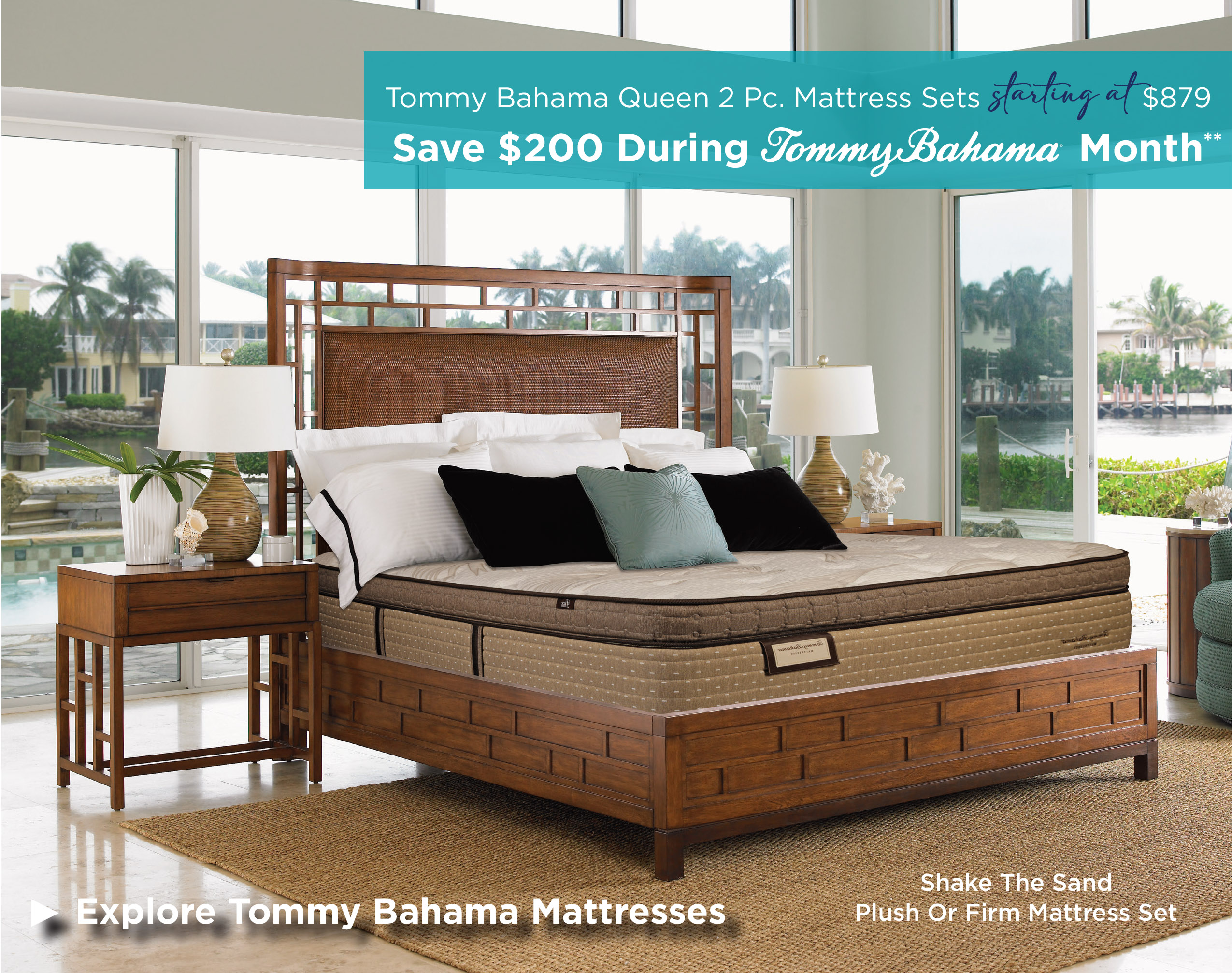 Save $200 on mattresses during Tommy Bahama Month